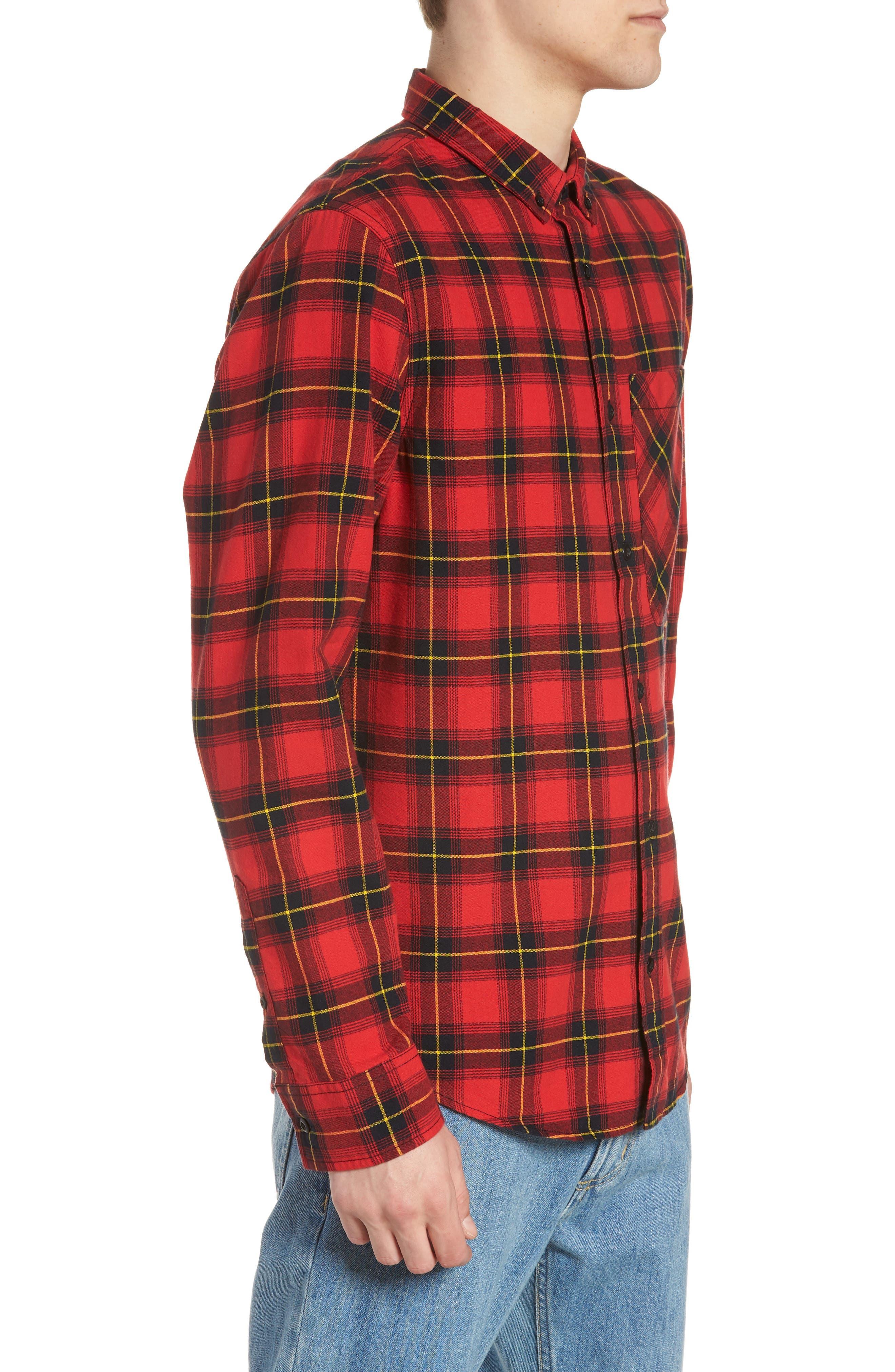 Plaid Oversize Pocket Sport Shirt,                             Alternate thumbnail 3, color,                             610
