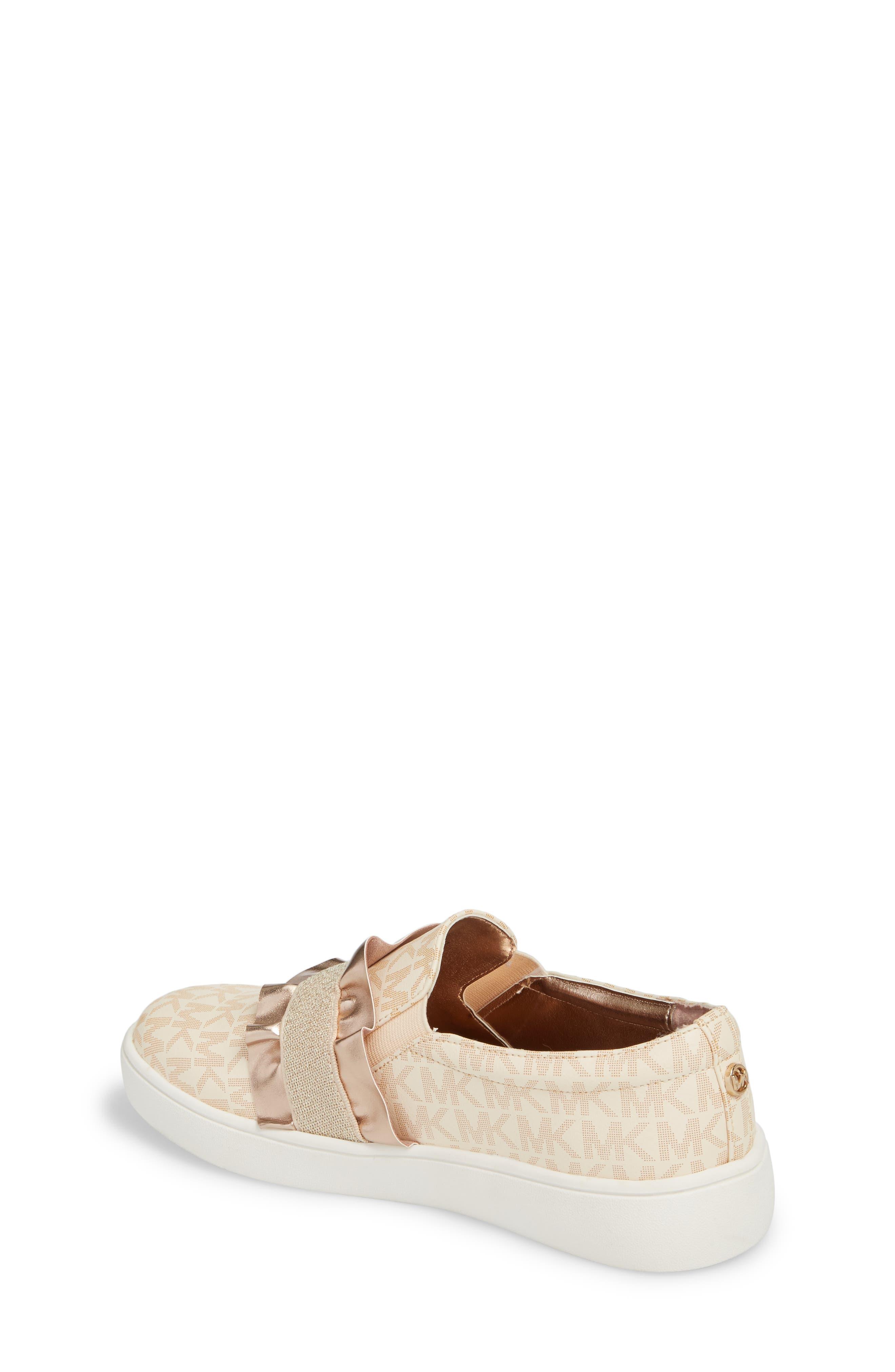 Ivy Riff Ruffle Sneaker,                             Alternate thumbnail 2, color,                             ROSE GOLD