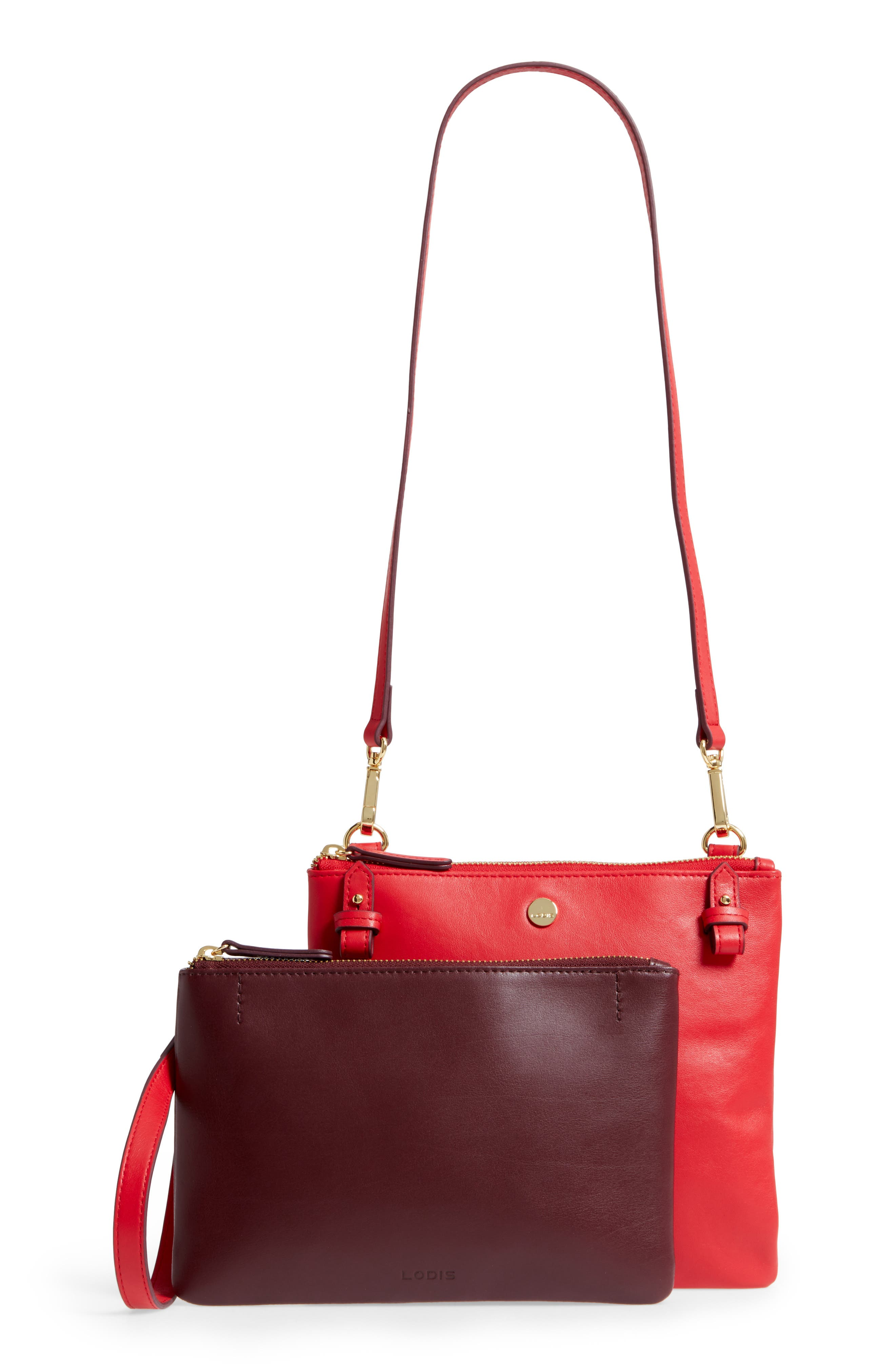 Downtown Latisha RFID Leather Crossbody,                             Alternate thumbnail 9, color,