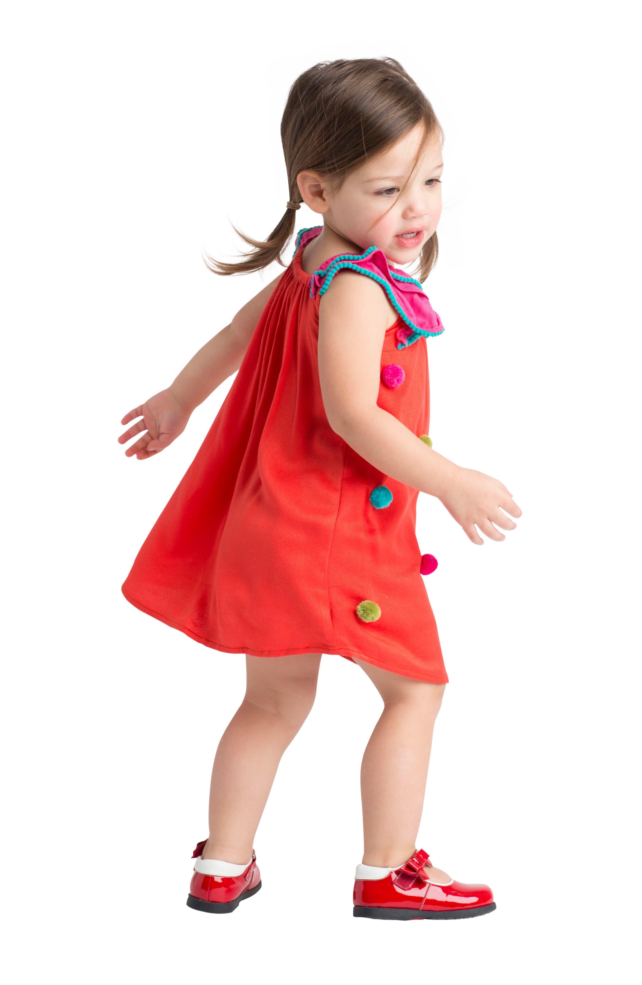 Pompom Dress,                             Alternate thumbnail 5, color,                             950