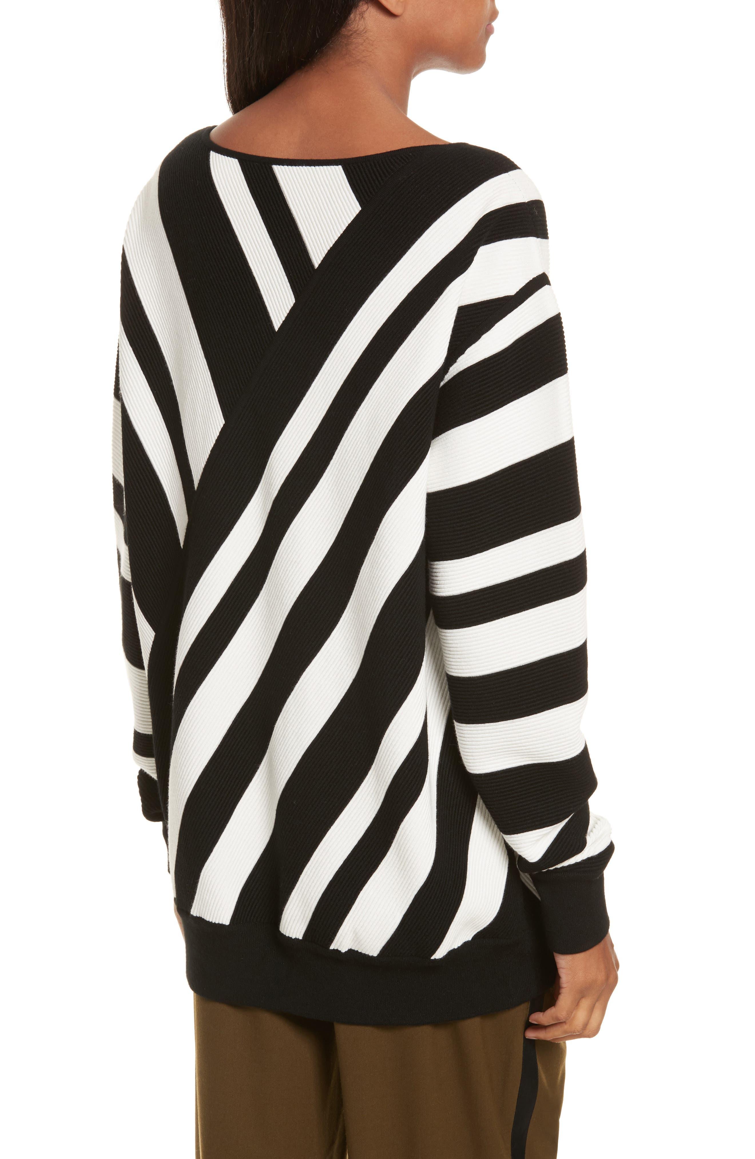 Stripe Knit Sweater,                             Alternate thumbnail 2, color,                             005