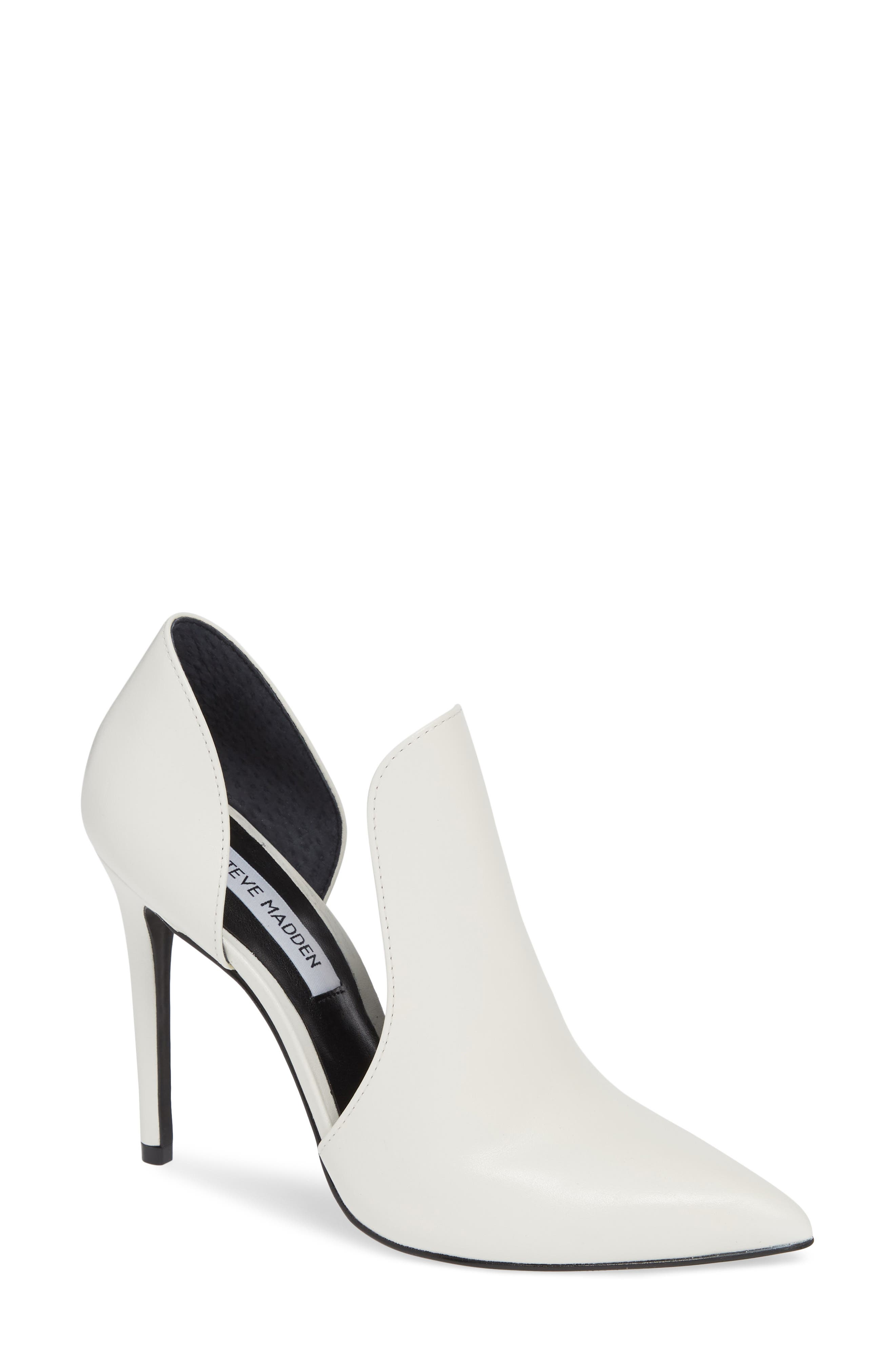 Dolly Pump, Main, color, WHITE LEATHER