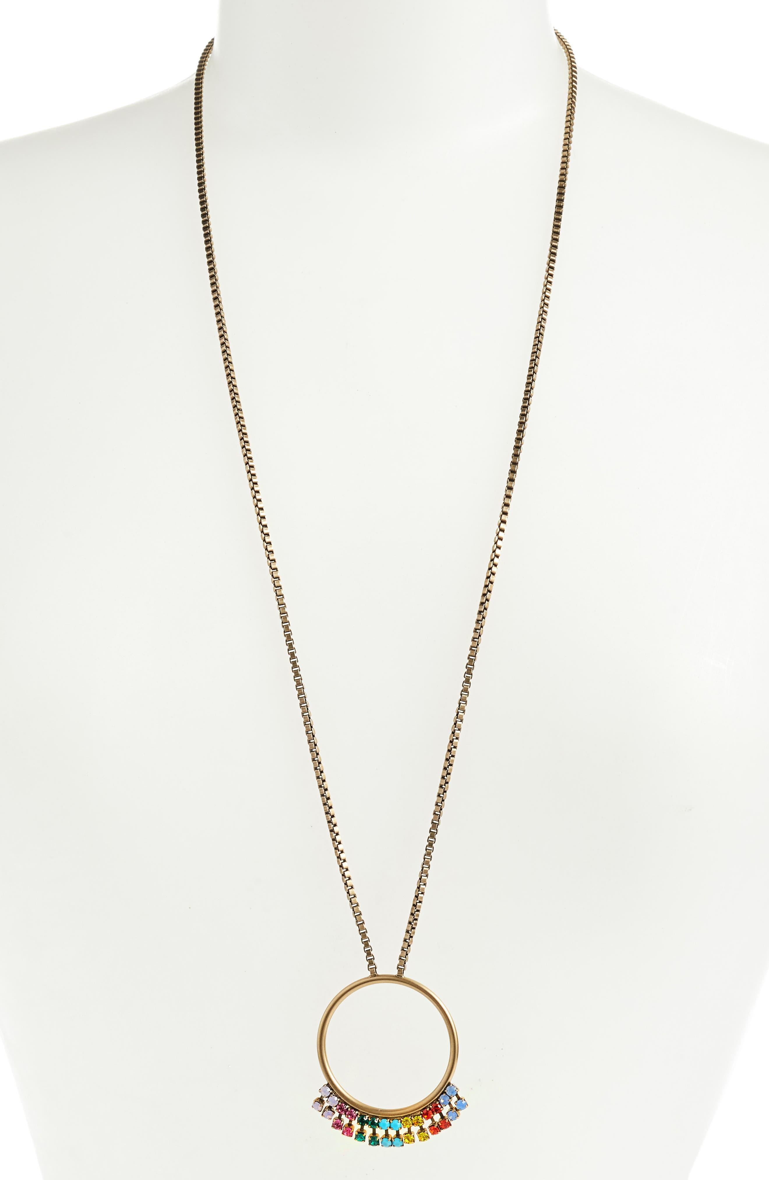 Emma Pendant Necklace,                         Main,                         color, GOLD MULTI