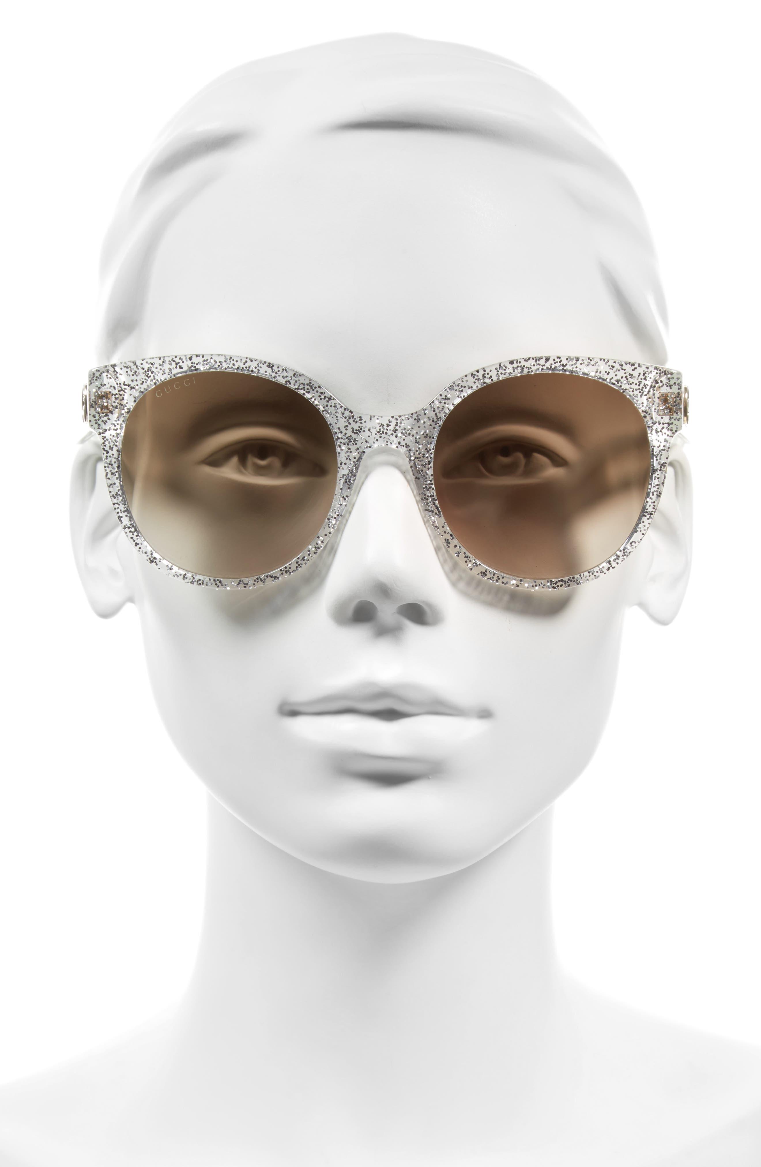 54mm Glitter Sunglasses,                             Alternate thumbnail 2, color,                             040