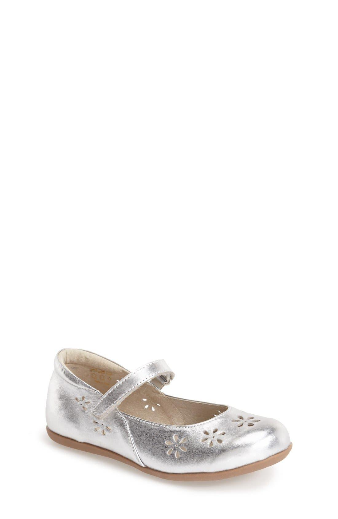 'Ginger' Metallic Leather Mary Jane Flat,                         Main,                         color, 040
