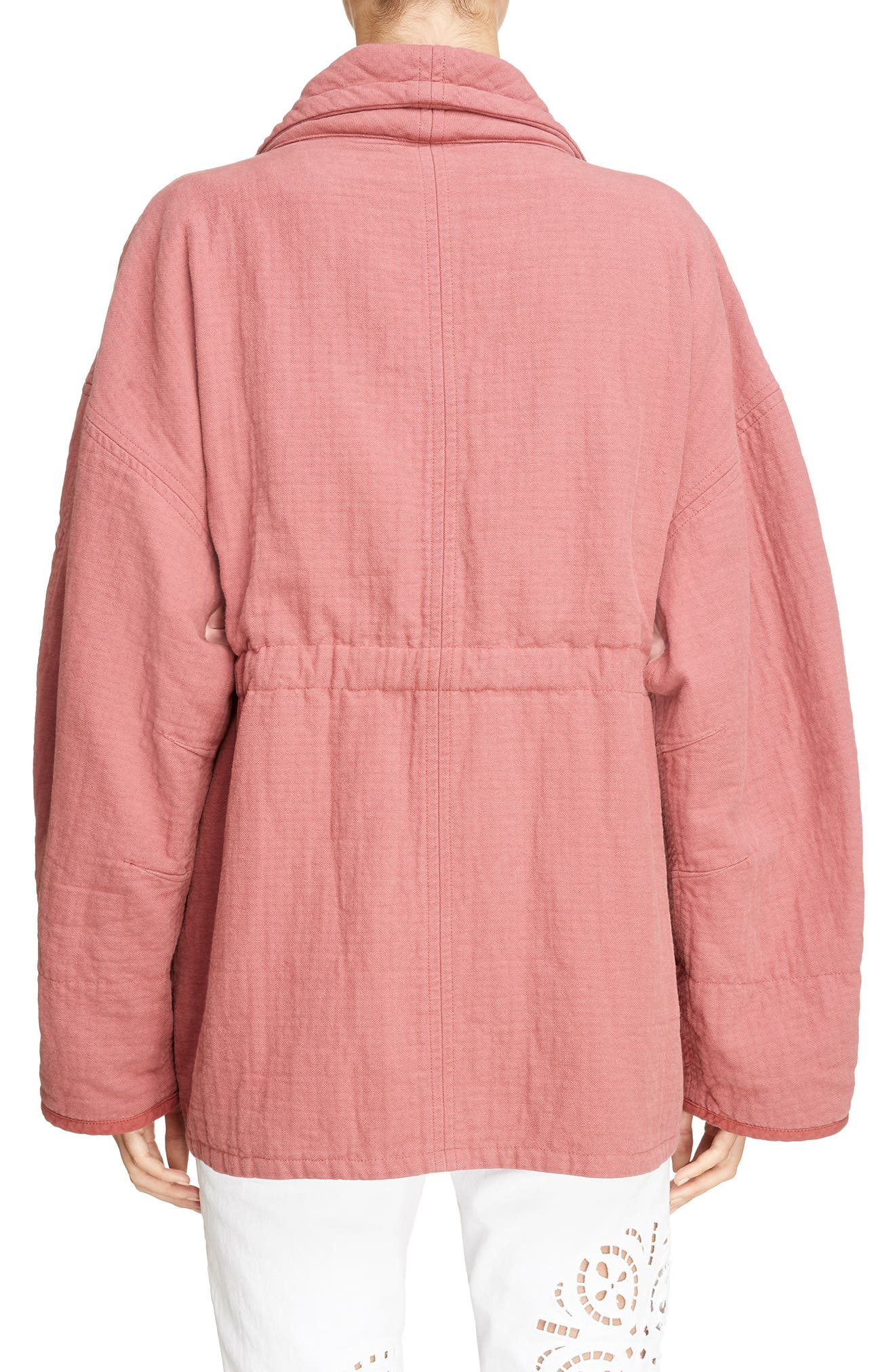 Oversize Textured Cotton Jacket,                             Alternate thumbnail 2, color,                             600