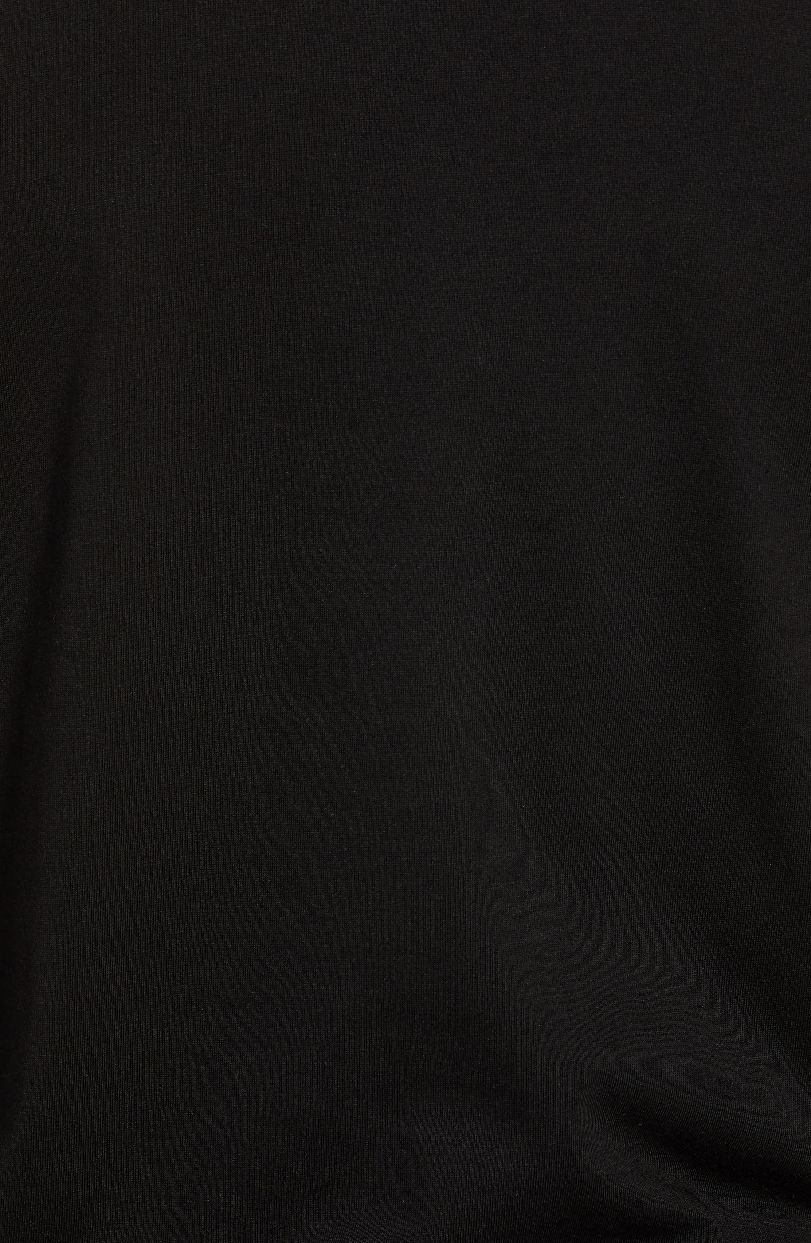 Ultra Dry Regular Fit Jersey T-Shirt,                             Alternate thumbnail 5, color,                             BLACK/ INKWELL WHITE