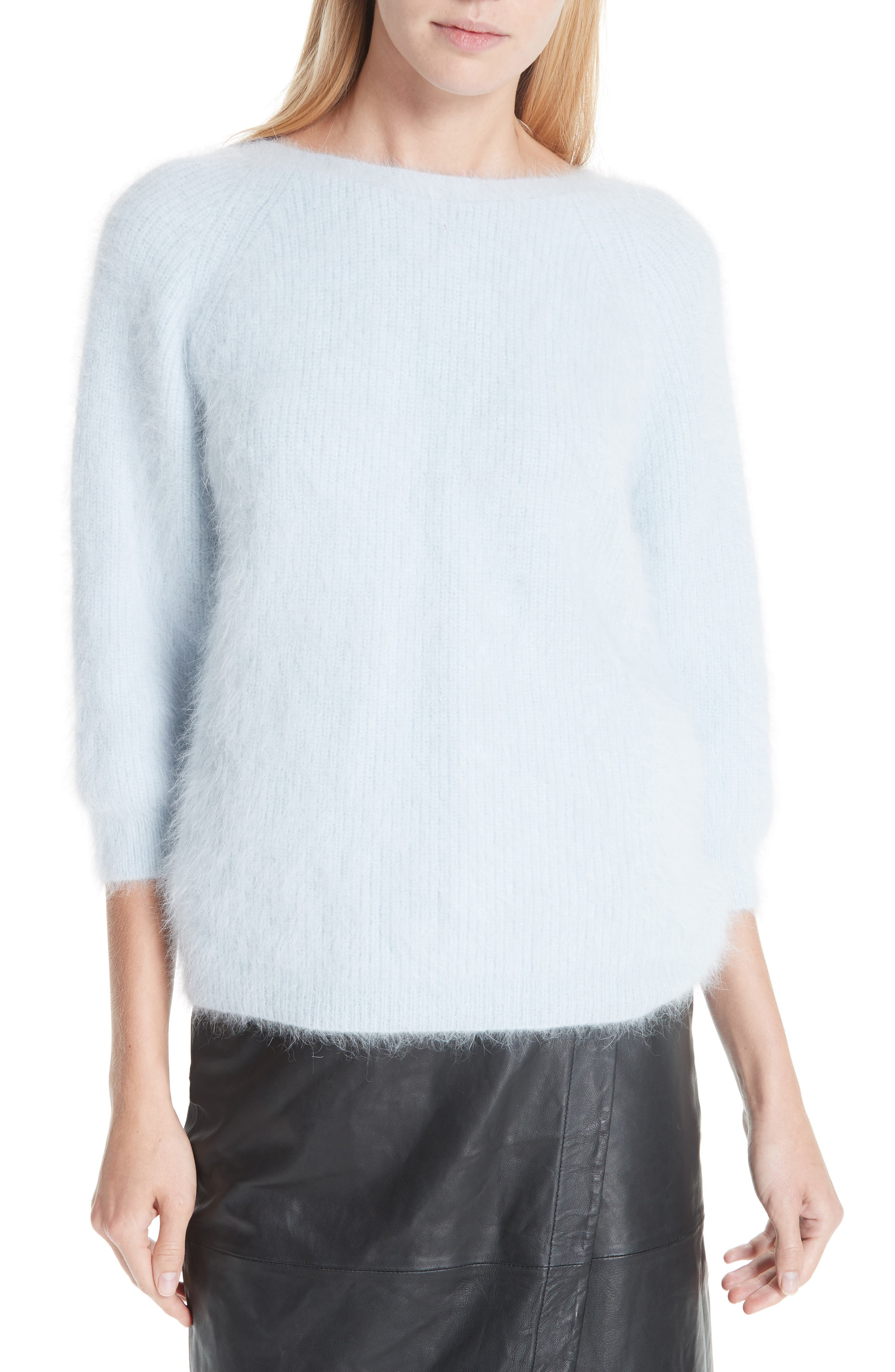 Barmy Twist Back Angora Blend Sweater,                             Main thumbnail 1, color,                             400