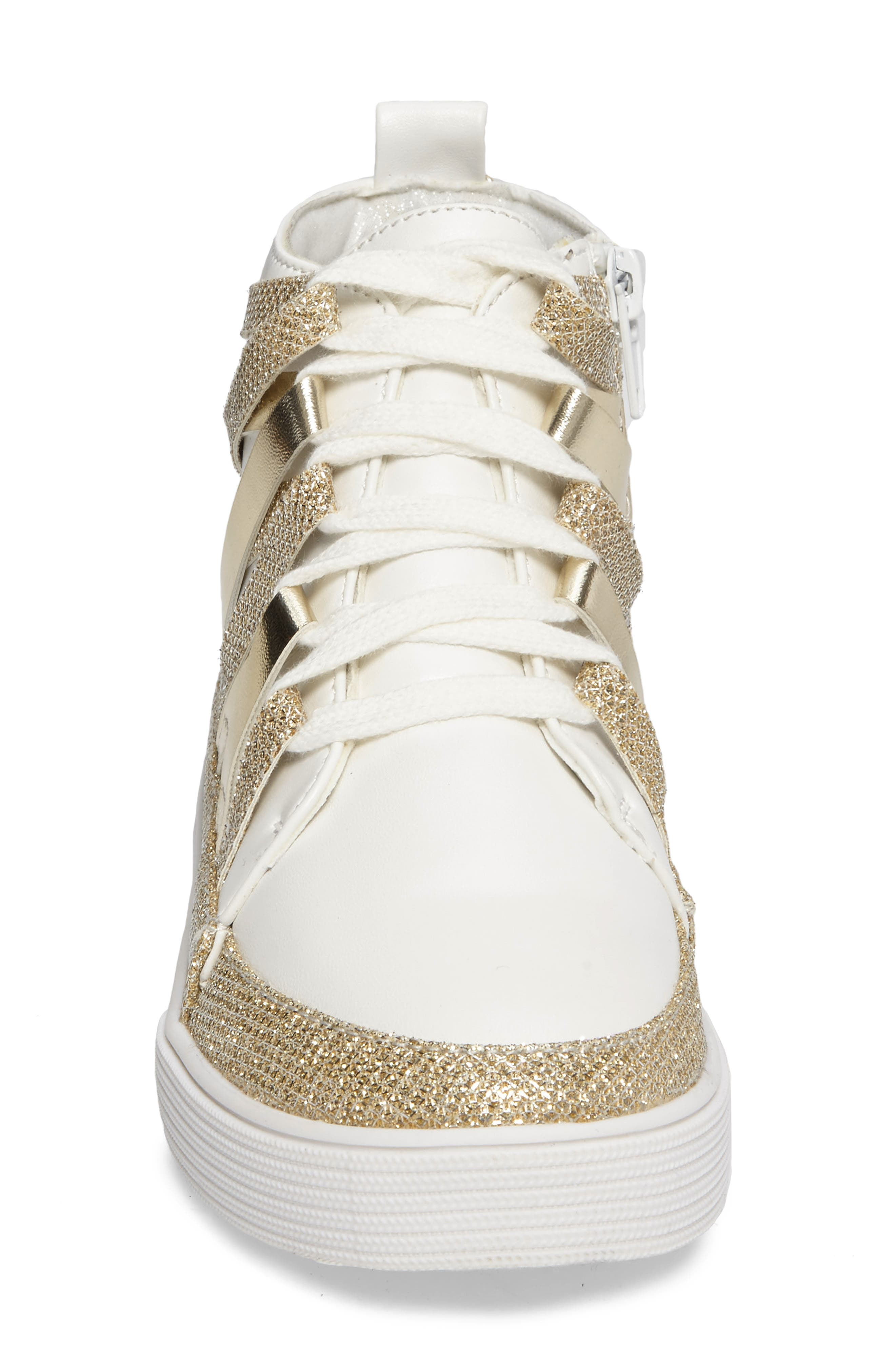 Vance Strappy High Top Sneaker,                             Alternate thumbnail 3, color,                             711