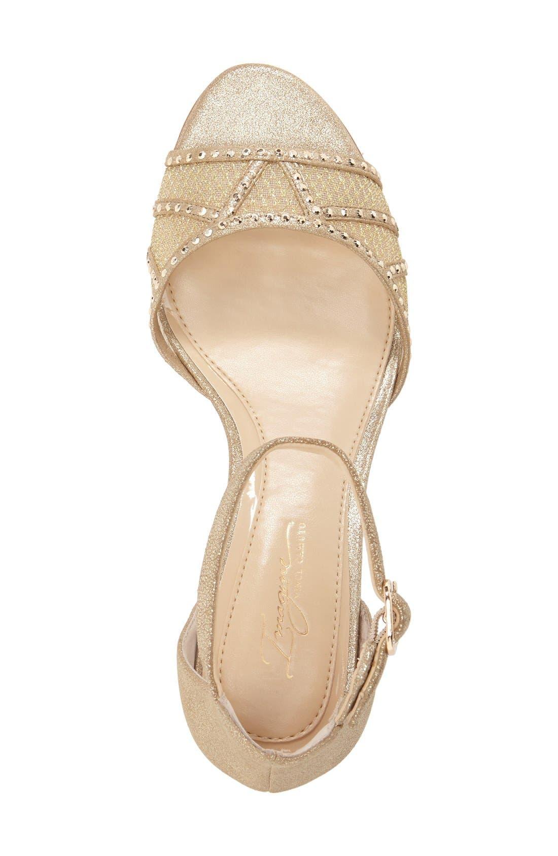 'Joan' Studded Wedge Sandal,                             Alternate thumbnail 8, color,