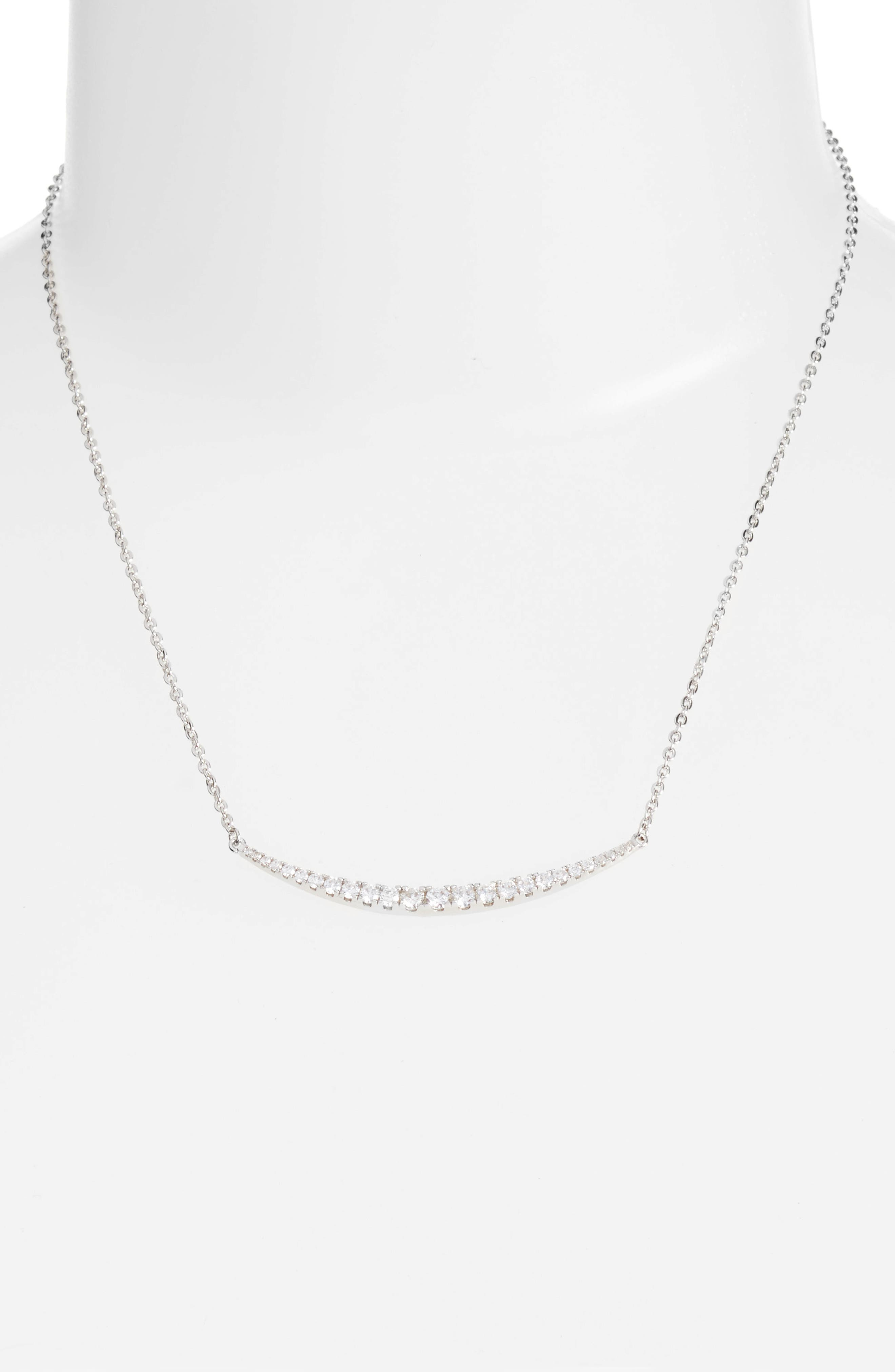 Crescent Pendant Necklace,                         Main,                         color, 040