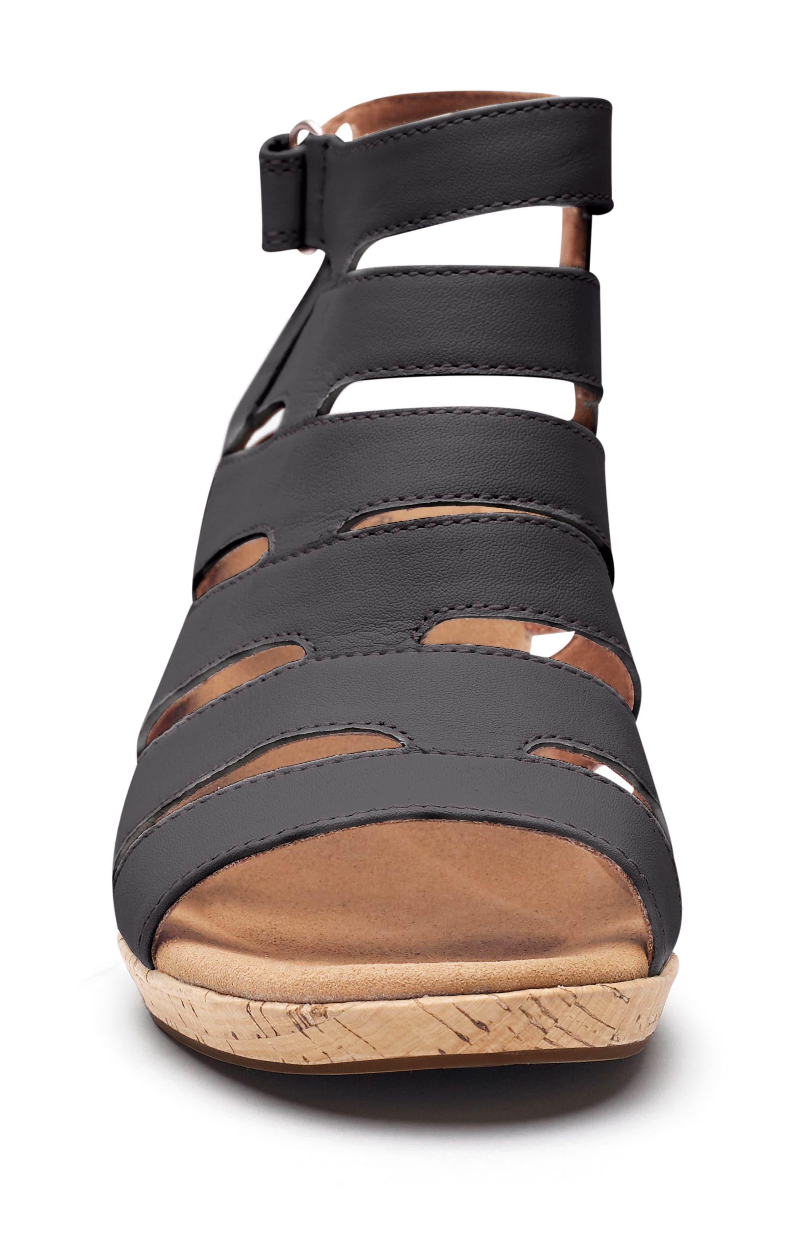 Janna Asymmetrical Sandal,                             Alternate thumbnail 4, color,                             001