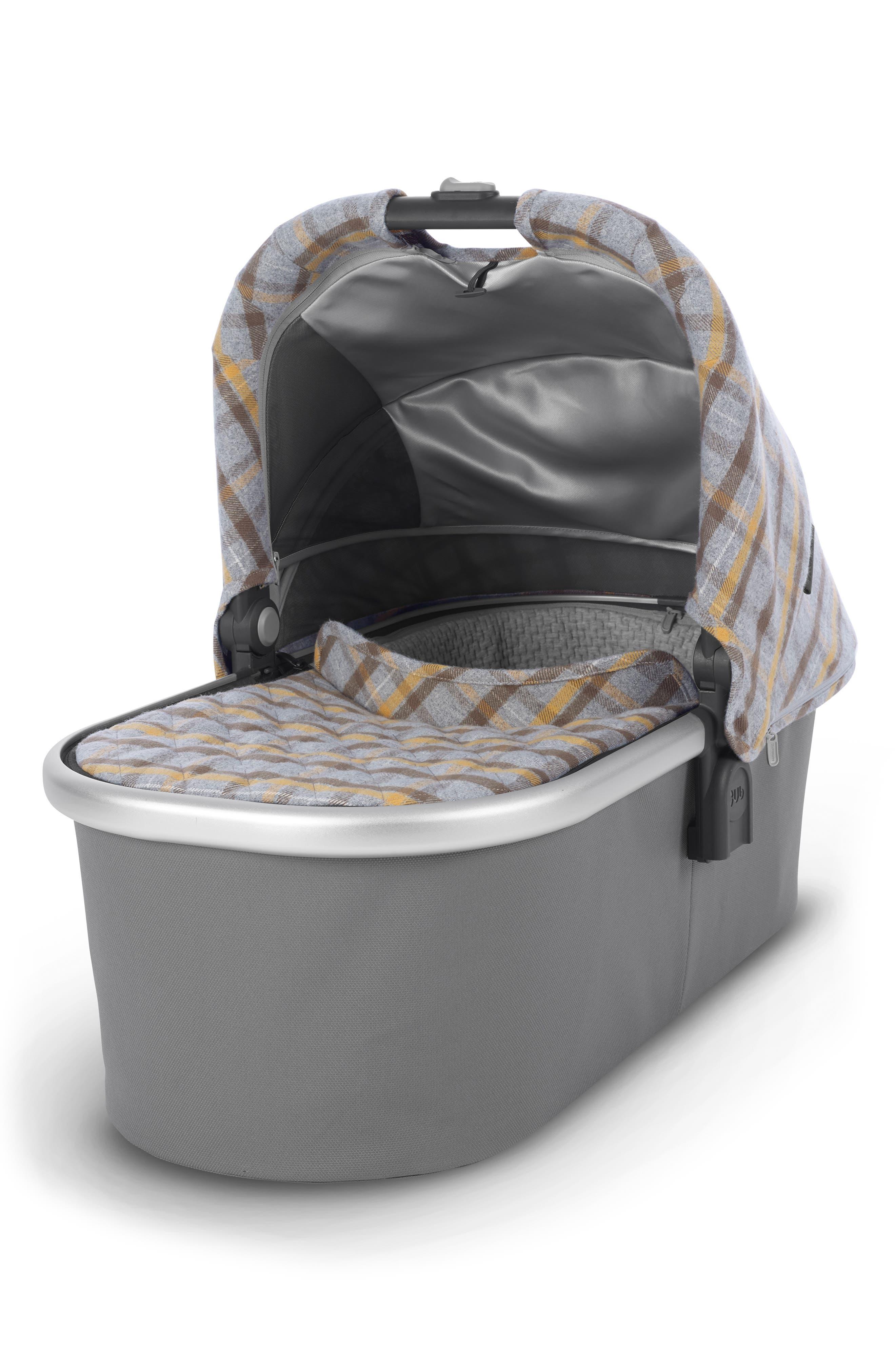 VISTA Spenser Convertible Stroller with Bassinet & Toddler Seat,                             Alternate thumbnail 2, color,                             GREY/ YELLOW TARTAN