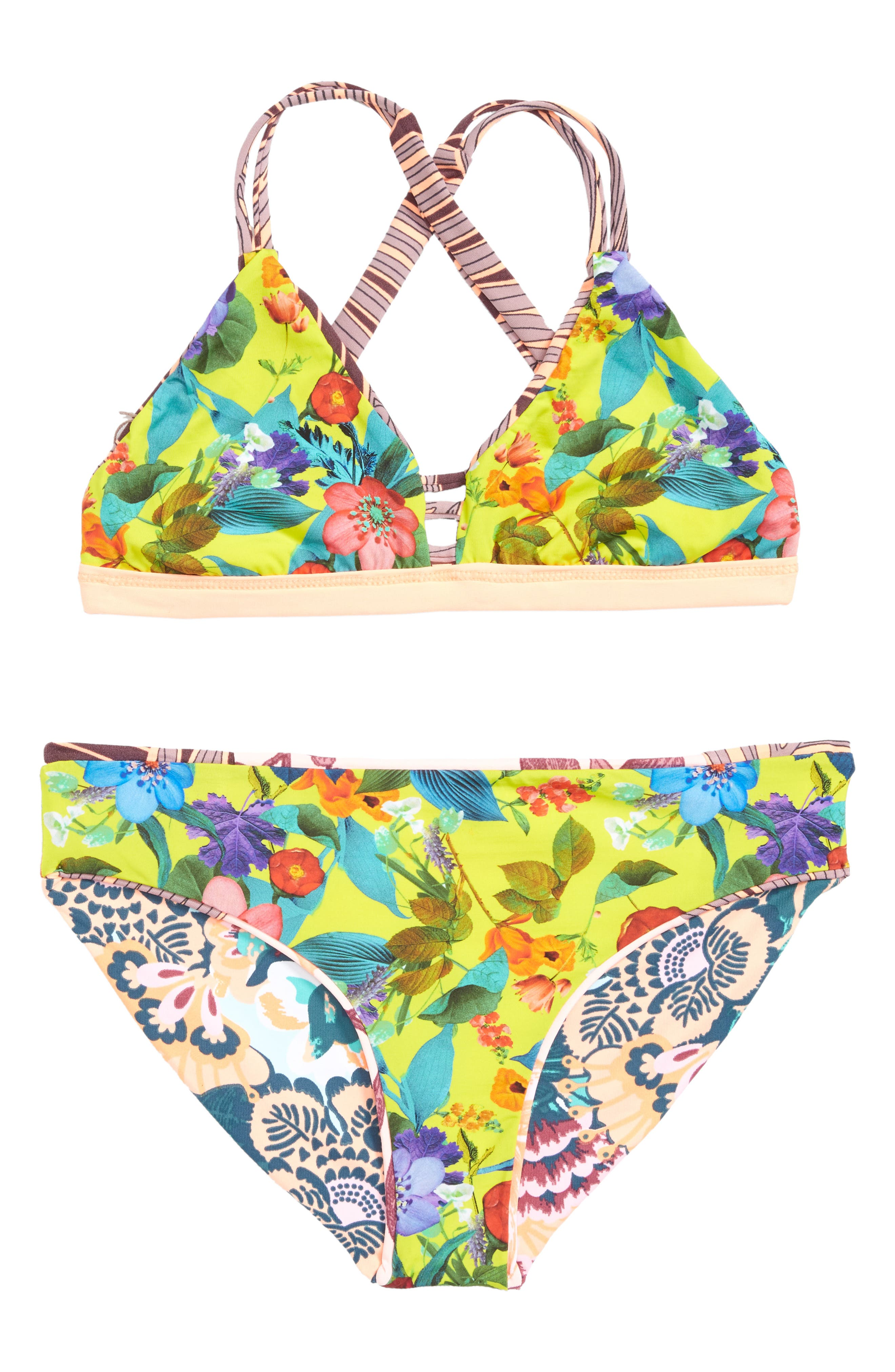 Sandy Sandbells Reversible Two-Piece Swimsuit,                             Alternate thumbnail 2, color,