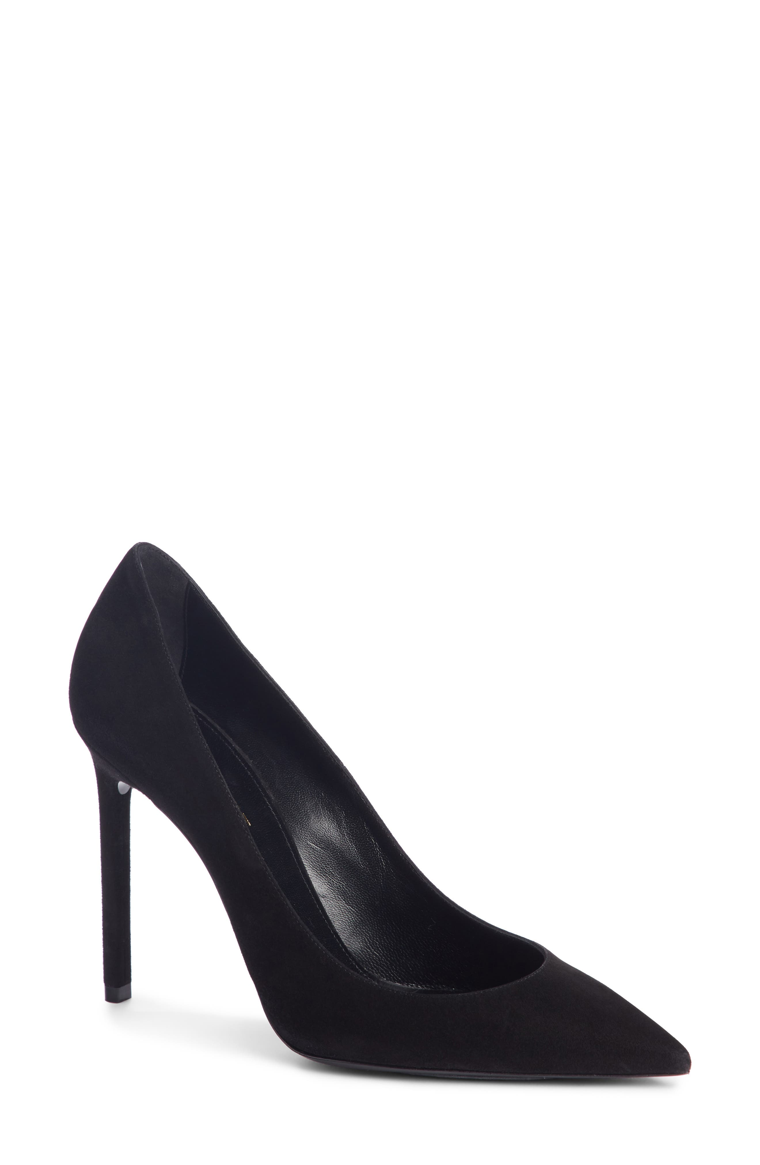 Zoe Pump,                         Main,                         color, BLACK SUEDE