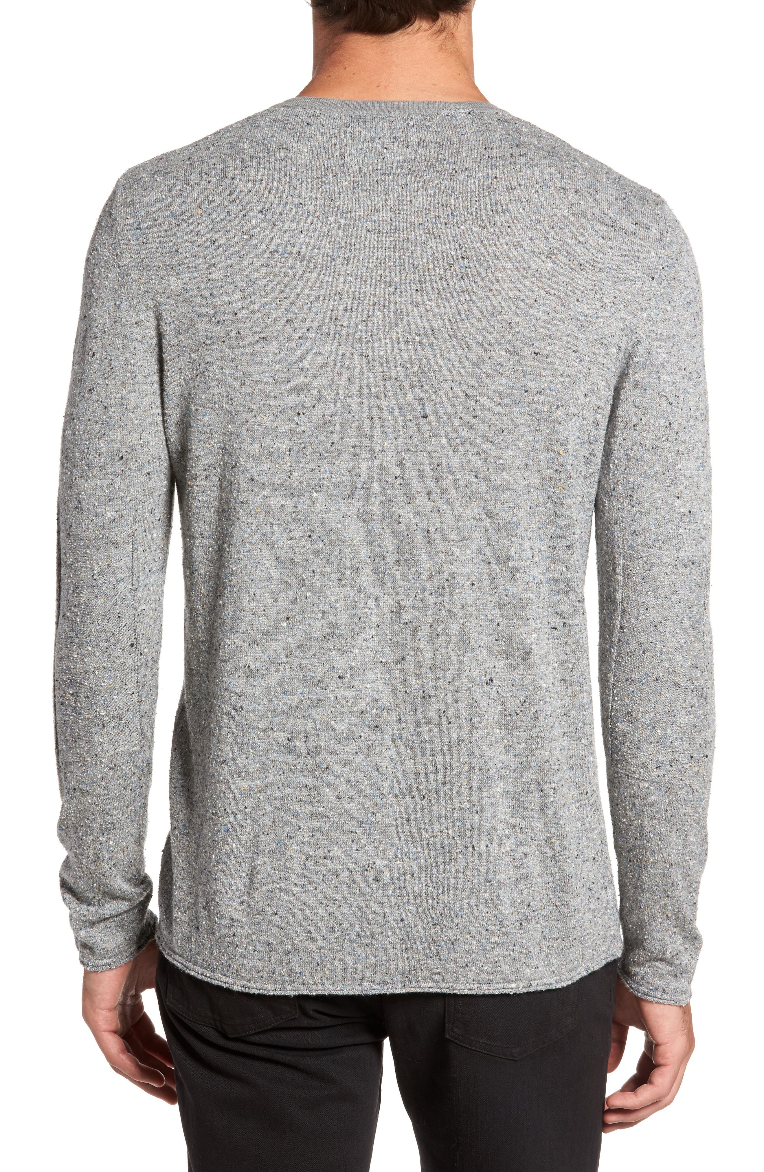 Speckled Henley Sweater,                             Alternate thumbnail 2, color,                             036