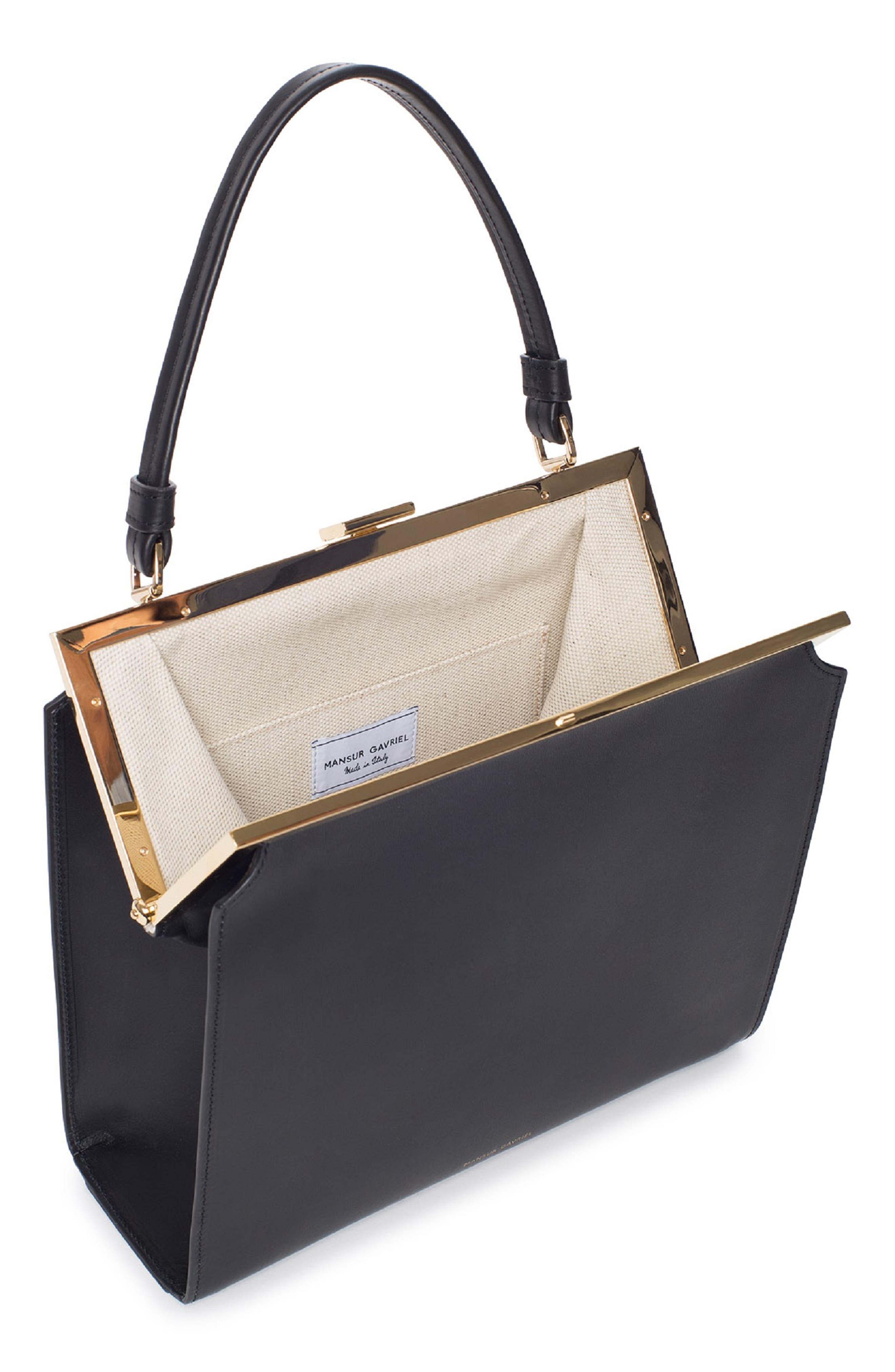 Elegant Leather Bag,                             Alternate thumbnail 2, color,                             001
