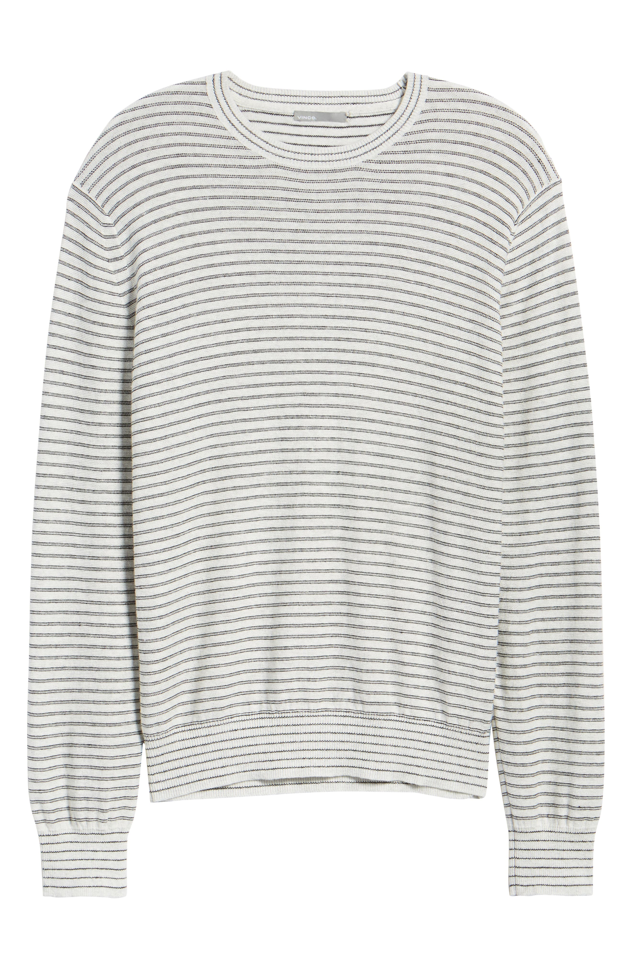 Stripe Long Sleeve Shirt,                             Alternate thumbnail 6, color,                             H WHITE/ BLACK