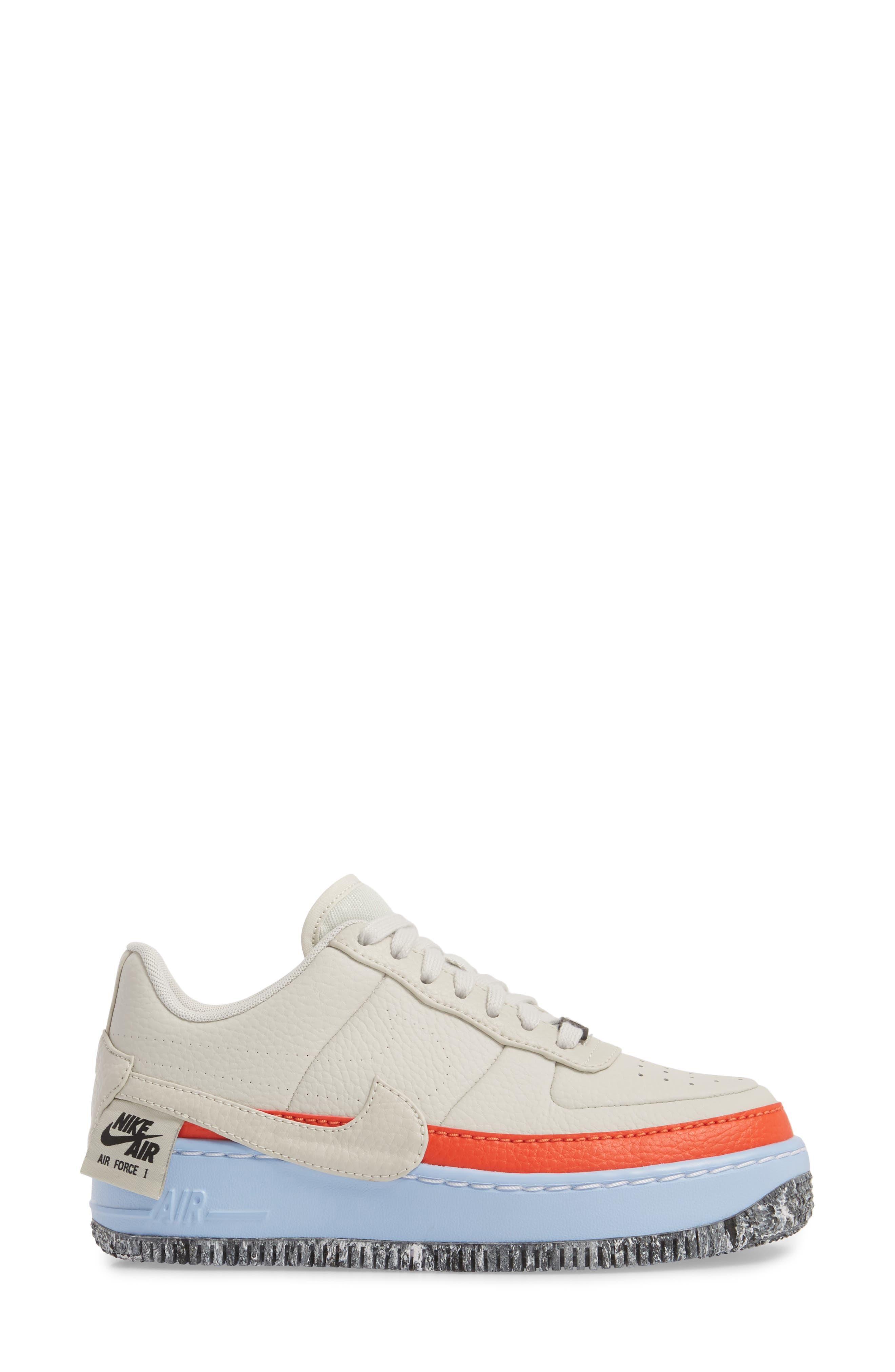 Air Force 1 Jester XX Sneaker,                             Alternate thumbnail 3, color,                             LIGHT BONE/ TEAM ORANGE