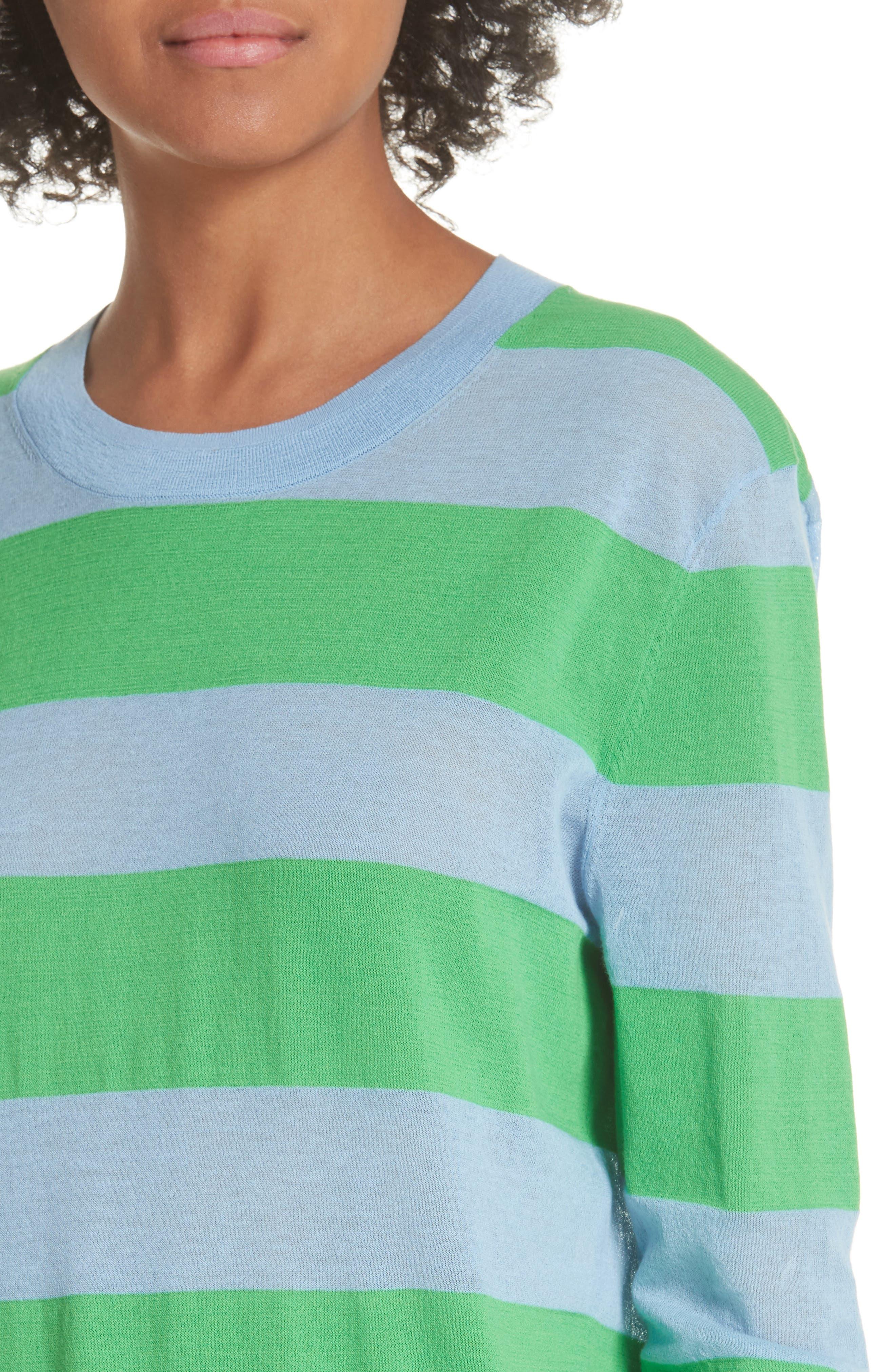 Diane von Furstenberg Colorblock Stripe Sweater,                             Alternate thumbnail 4, color,                             415