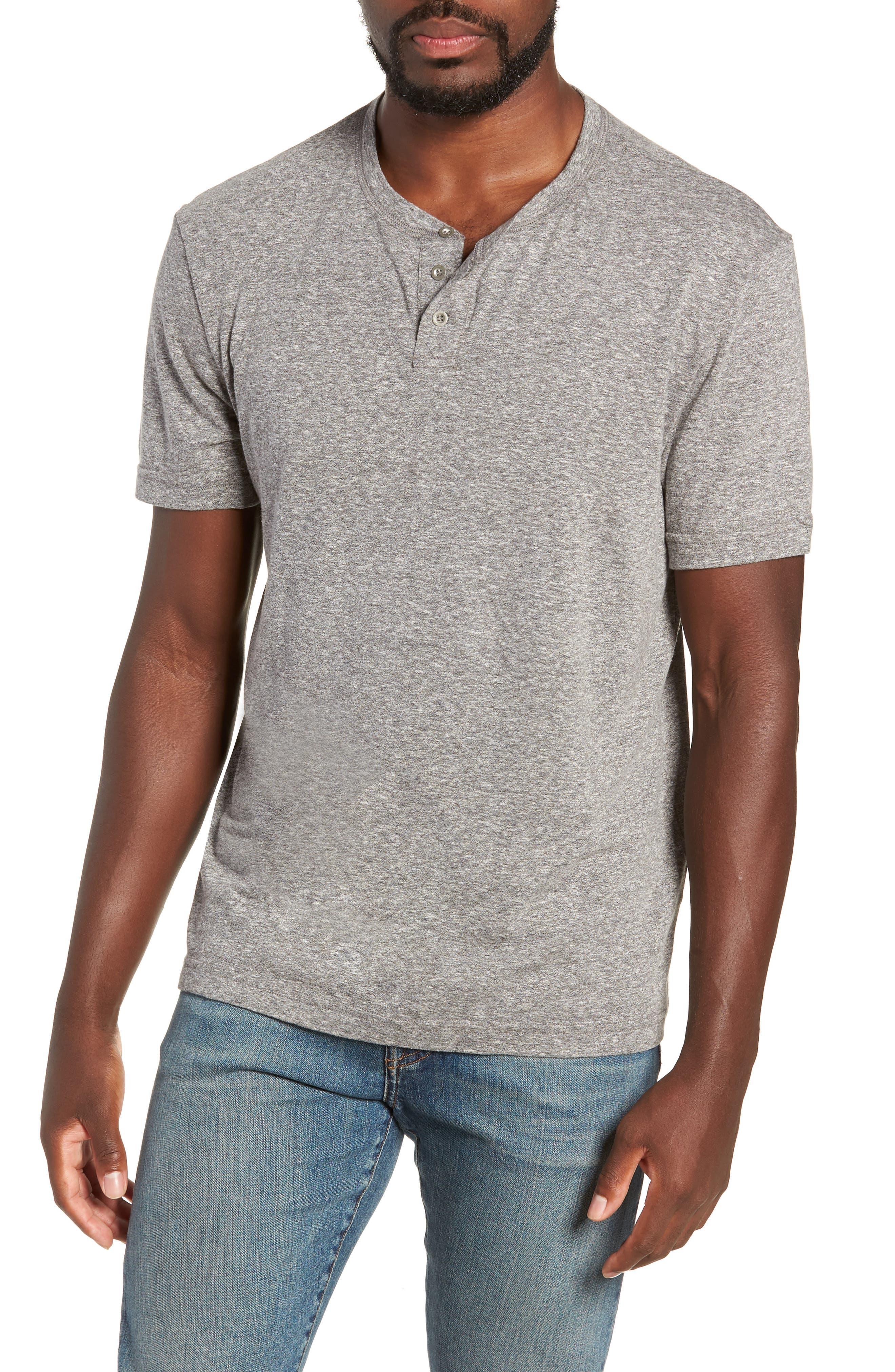 Triblend Henley Shirt,                             Main thumbnail 1, color,                             020