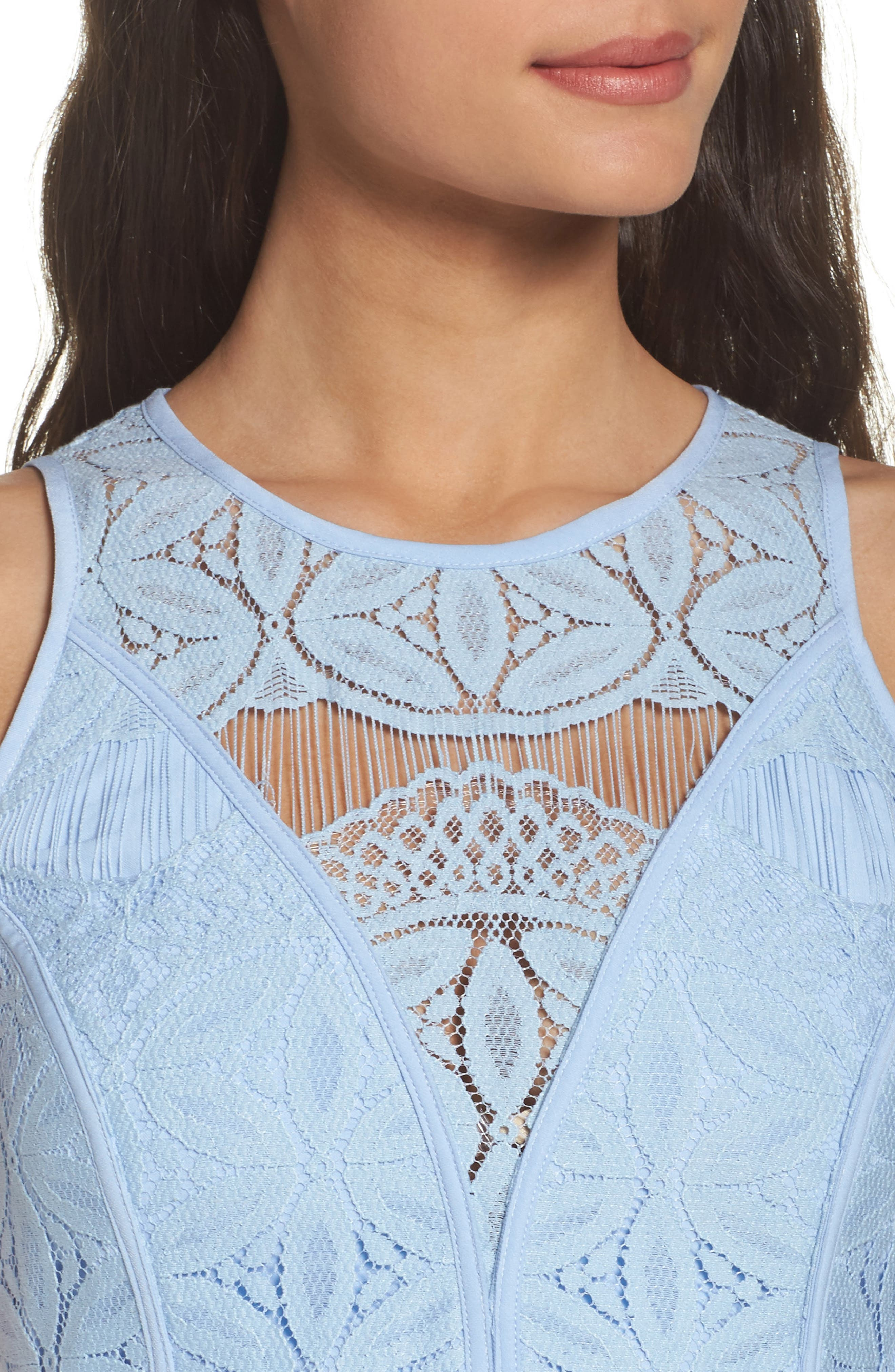 Lace High/Low Sheath Dress,                             Alternate thumbnail 31, color,