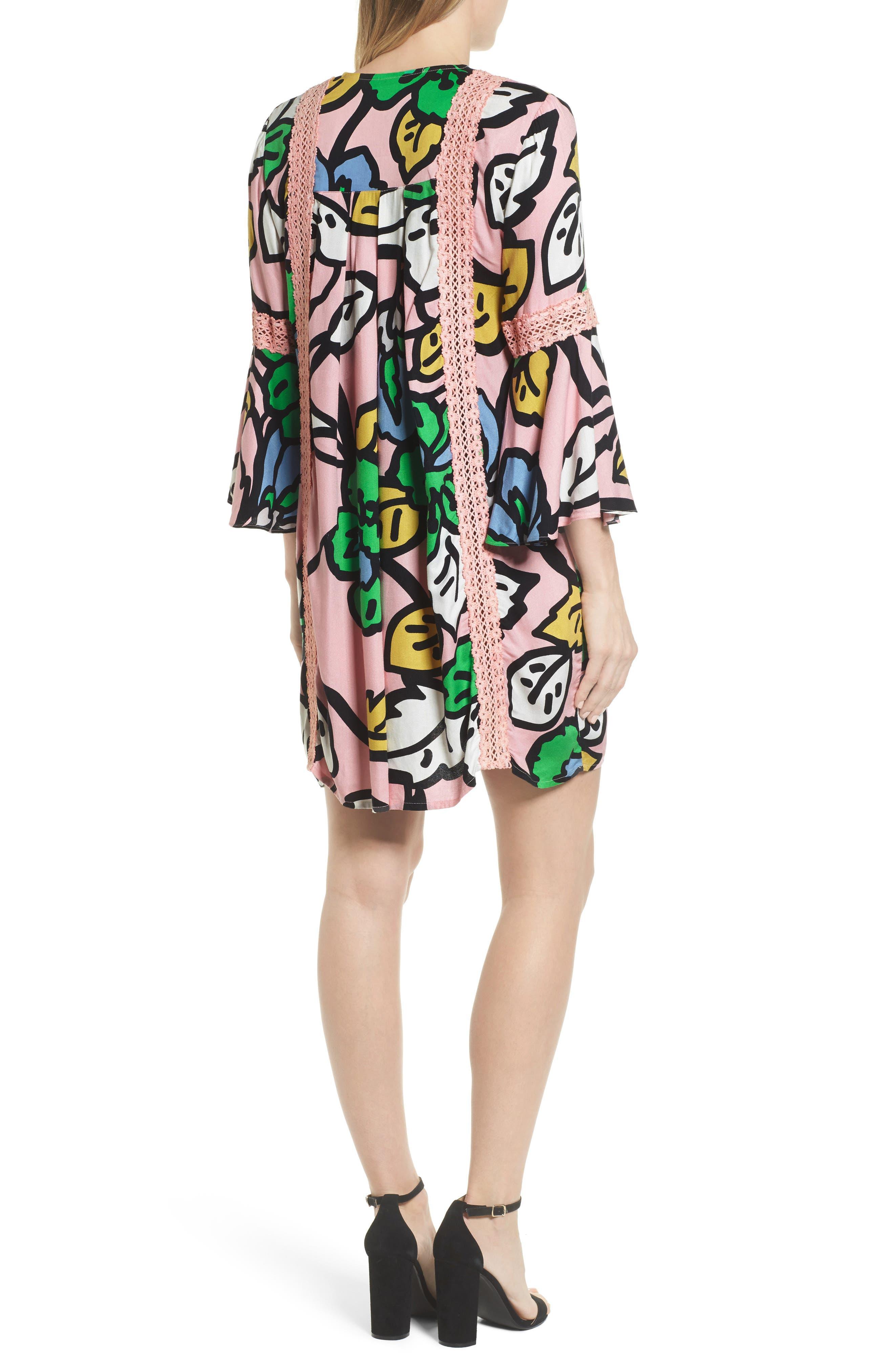 Ancona Mod Print Shift Dress,                             Alternate thumbnail 2, color,