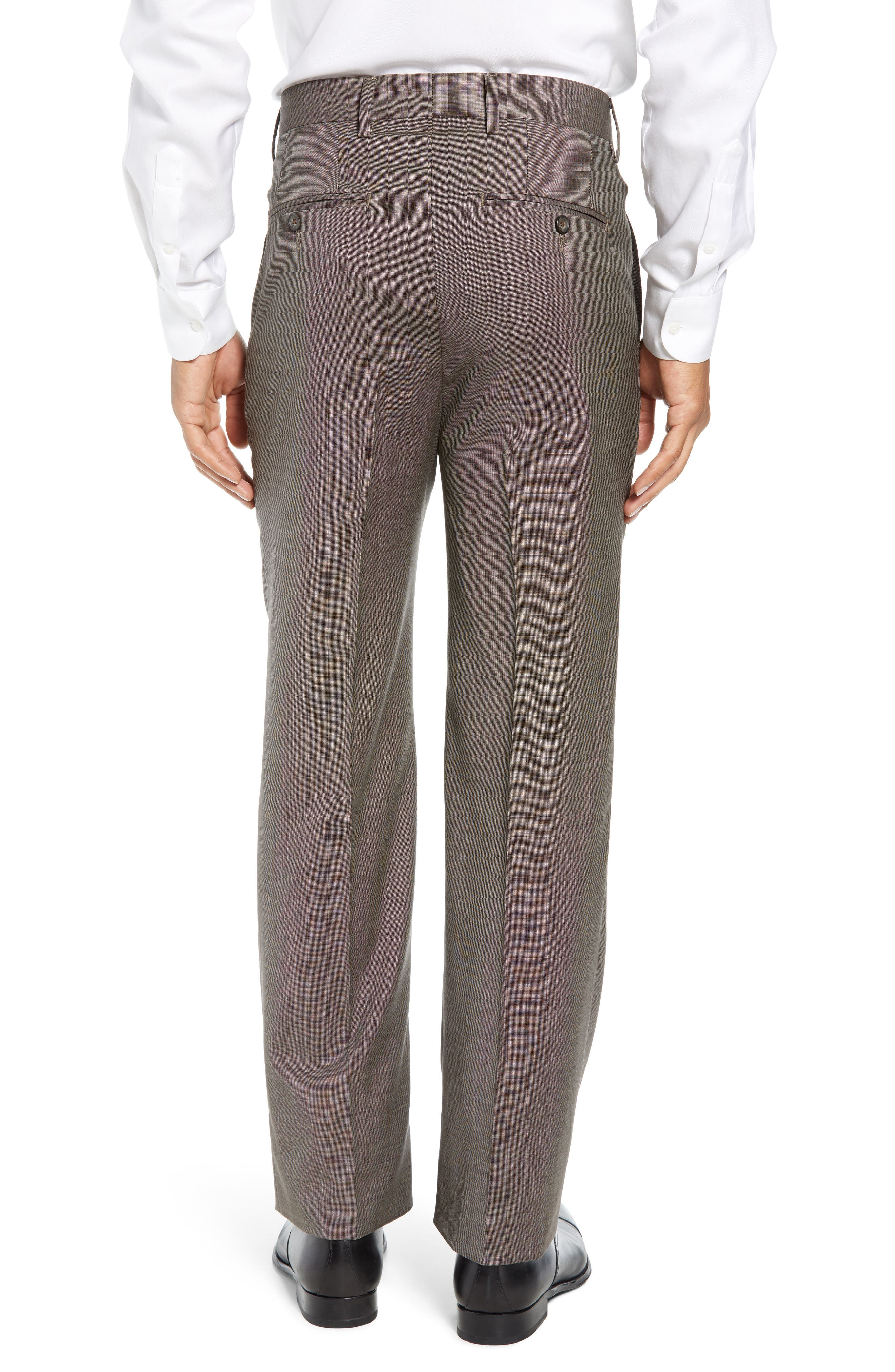 Manufacturing Flat Front Wool Trousers,                             Alternate thumbnail 2, color,                             BROWN