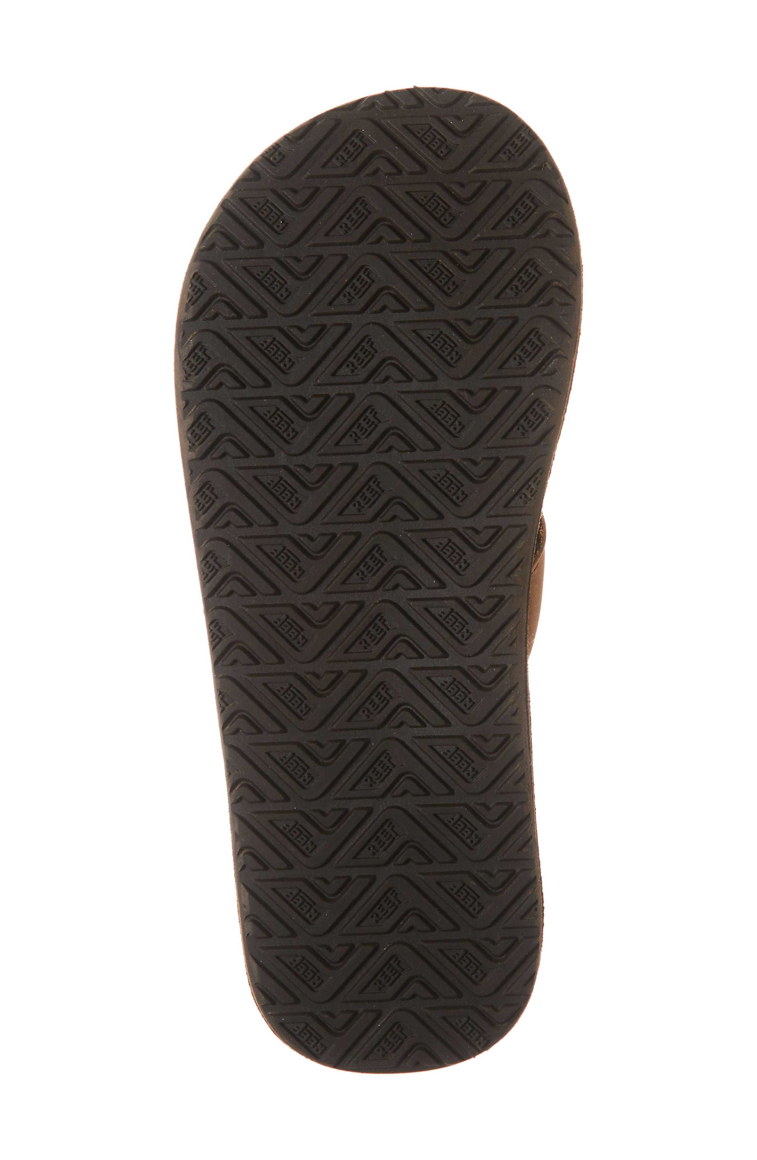 'Grom' Leather Flip-Flop,                             Alternate thumbnail 6, color,                             200