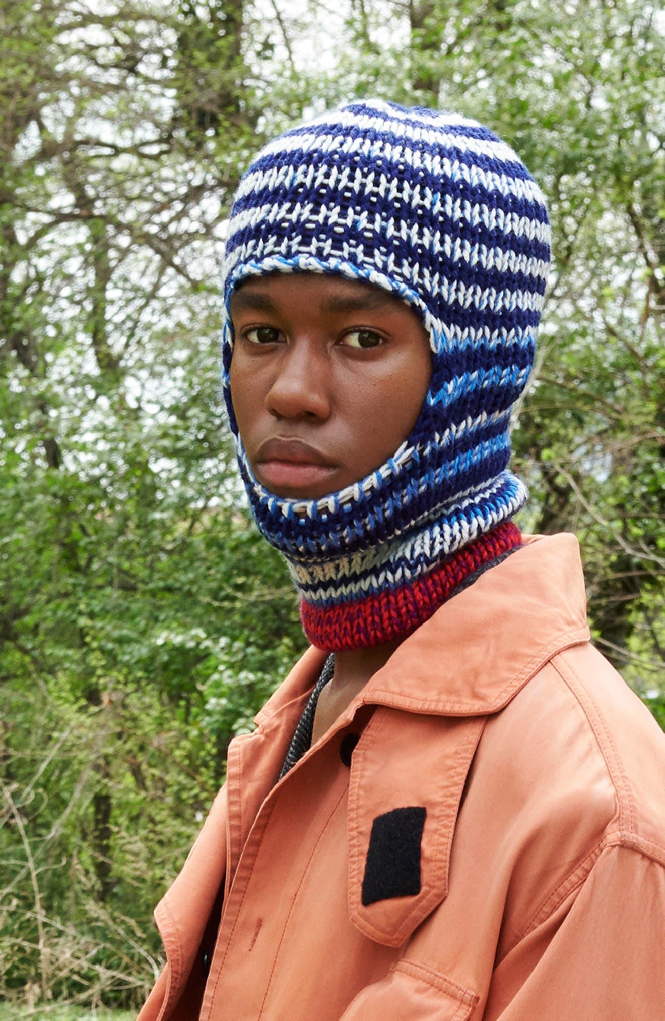 Wool Balaclava Hat,                         Main,                         color, NAVY
