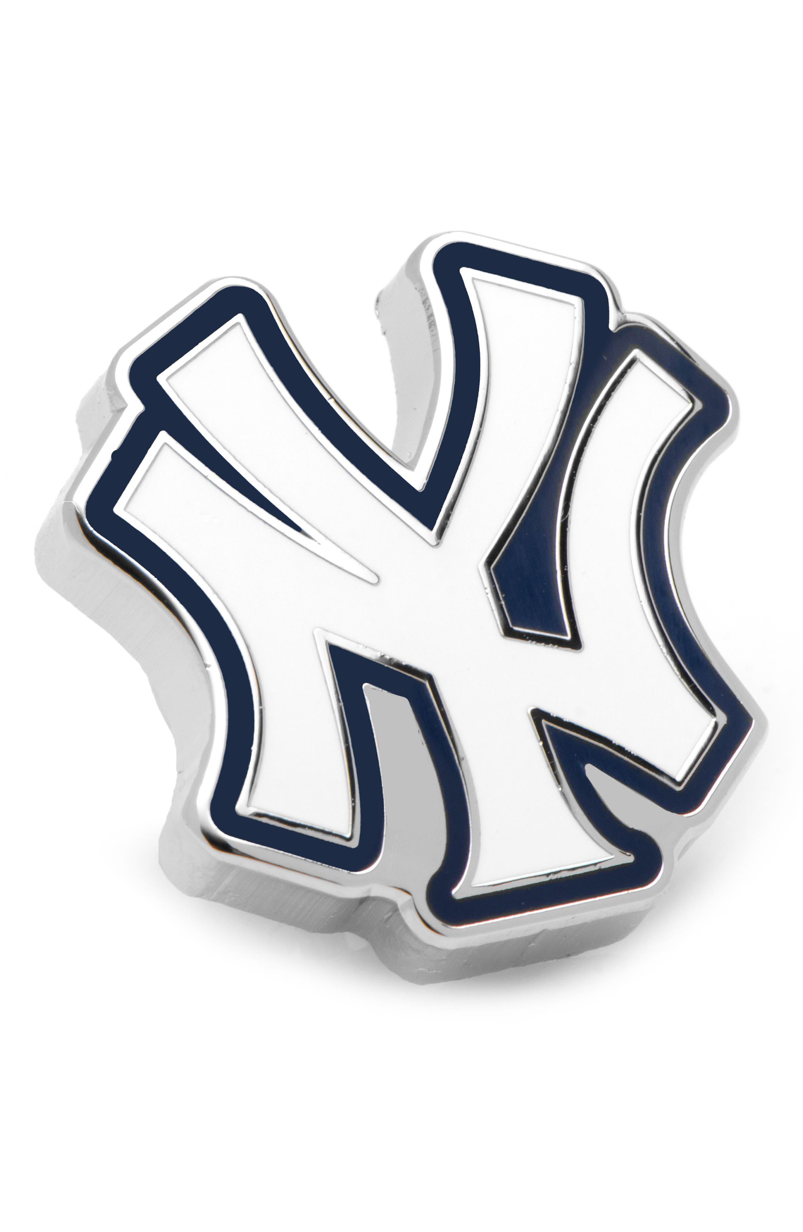 New York Yankees Lapel Pin,                             Main thumbnail 1, color,                             WHITE