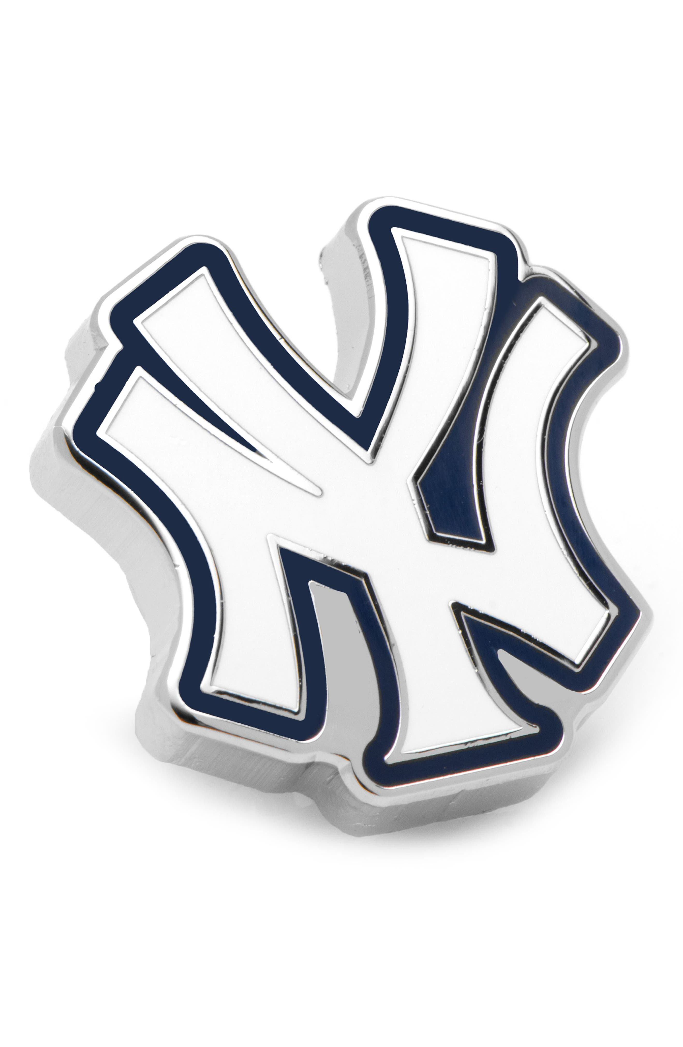 New York Yankees Lapel Pin,                         Main,                         color, WHITE