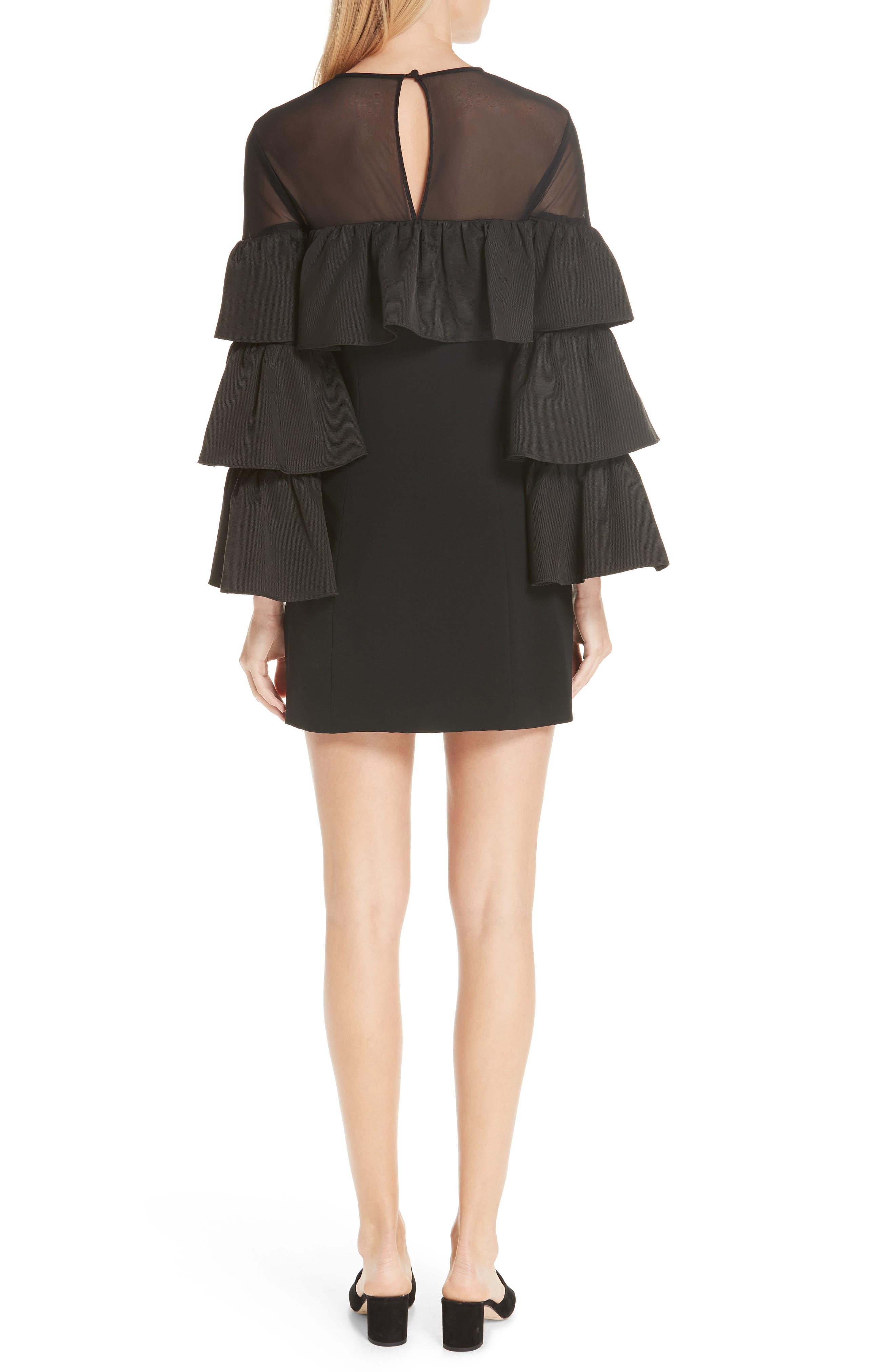 Valentina Ruffle Sleeve Dress,                             Alternate thumbnail 2, color,                             001
