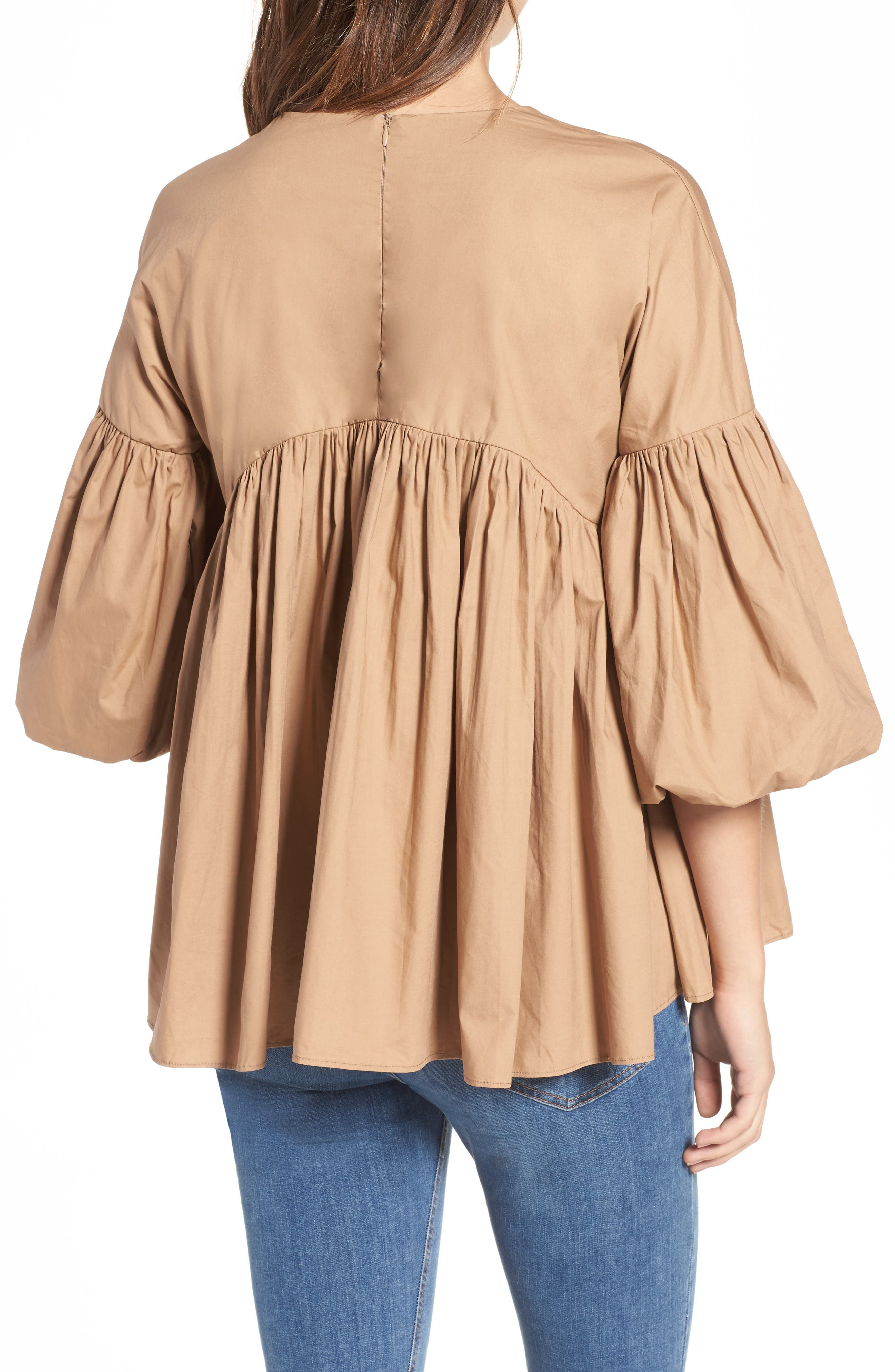Pleated Swing Top,                             Alternate thumbnail 2, color,                             250