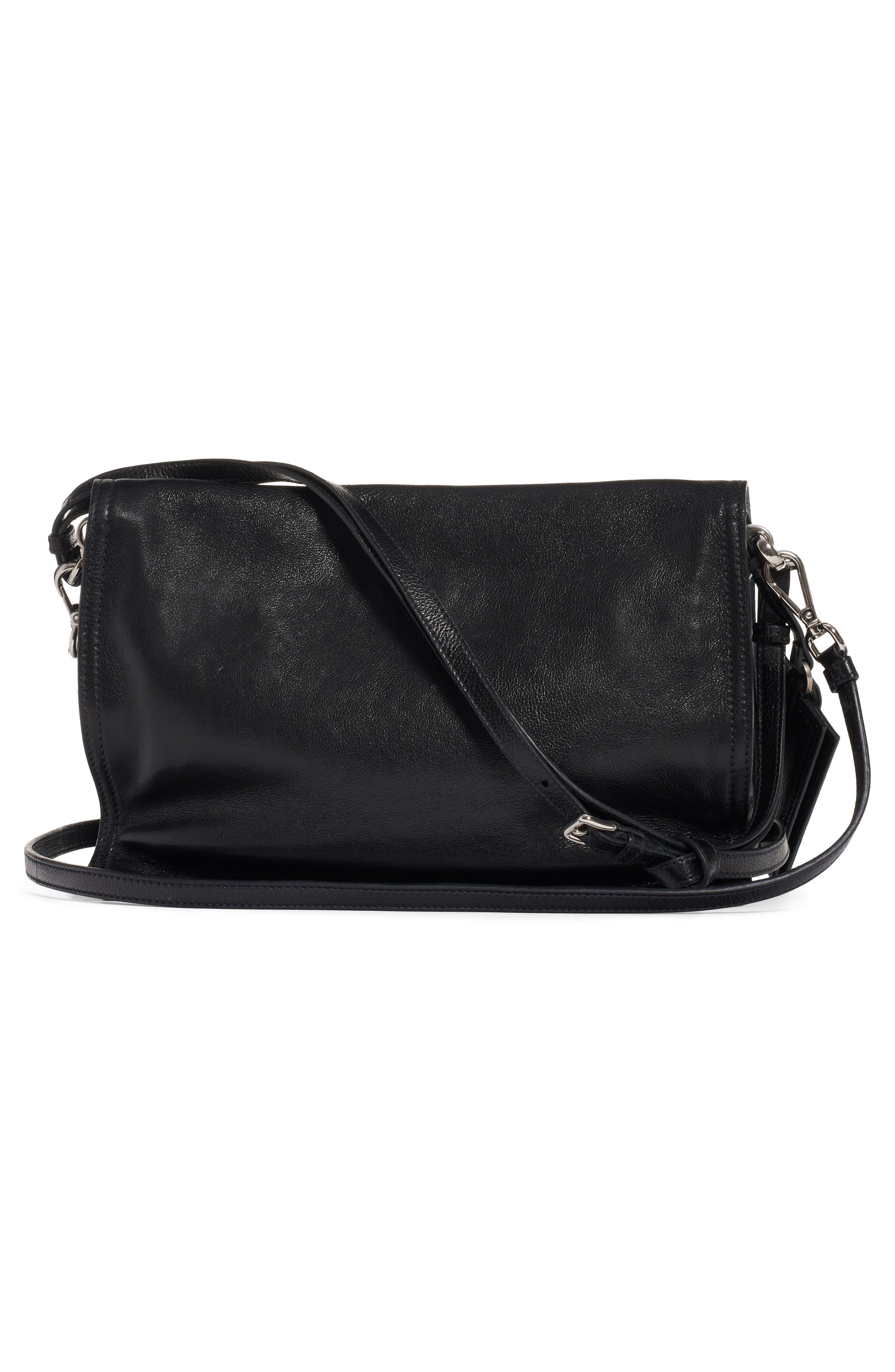 PRADA,                             Medium Etiquette Shoulder Bag,                             Alternate thumbnail 3, color,                             NERO/ ASTRALE