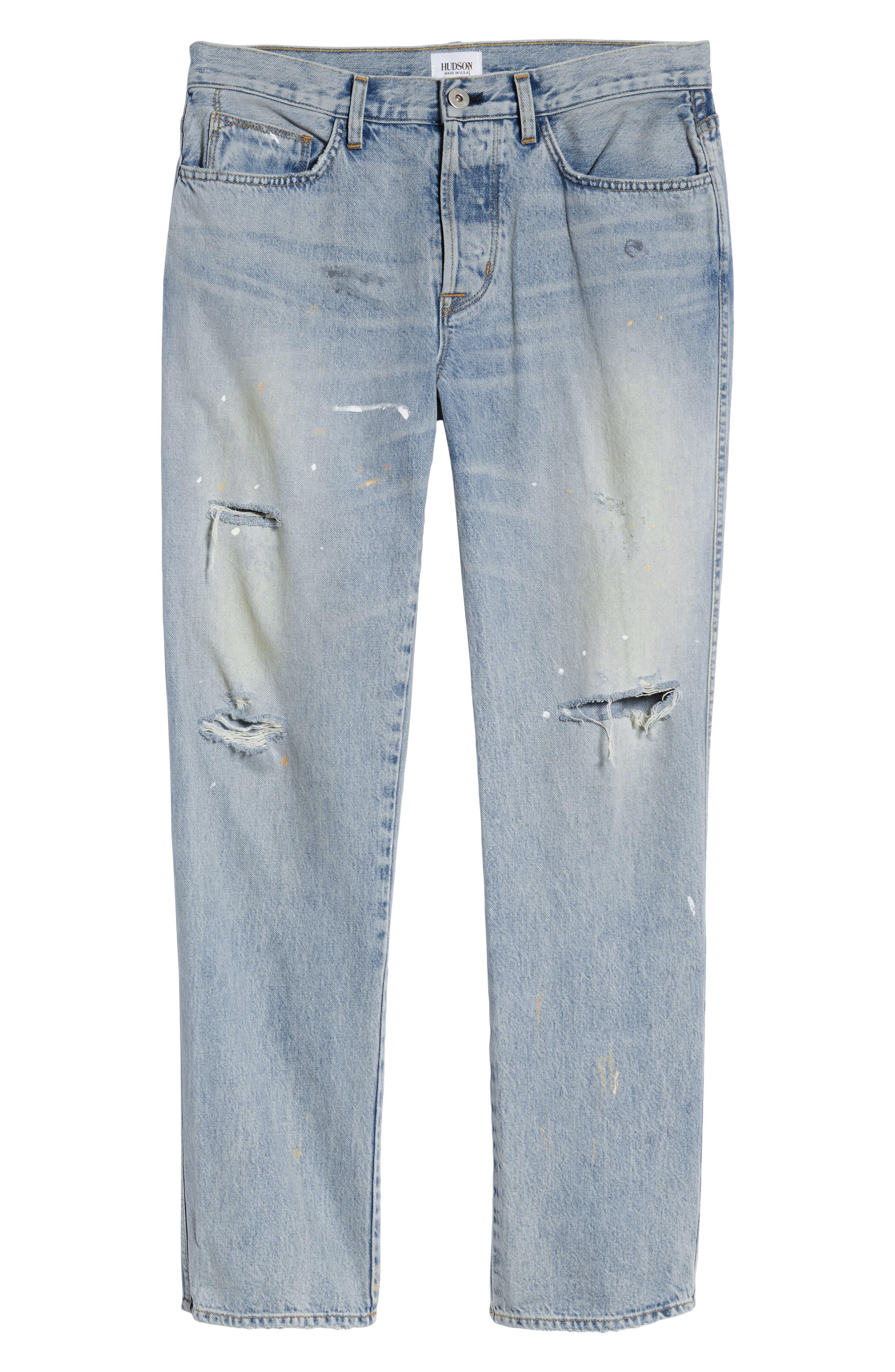 Dixon Straight Fit Jeans,                             Alternate thumbnail 6, color,                             451