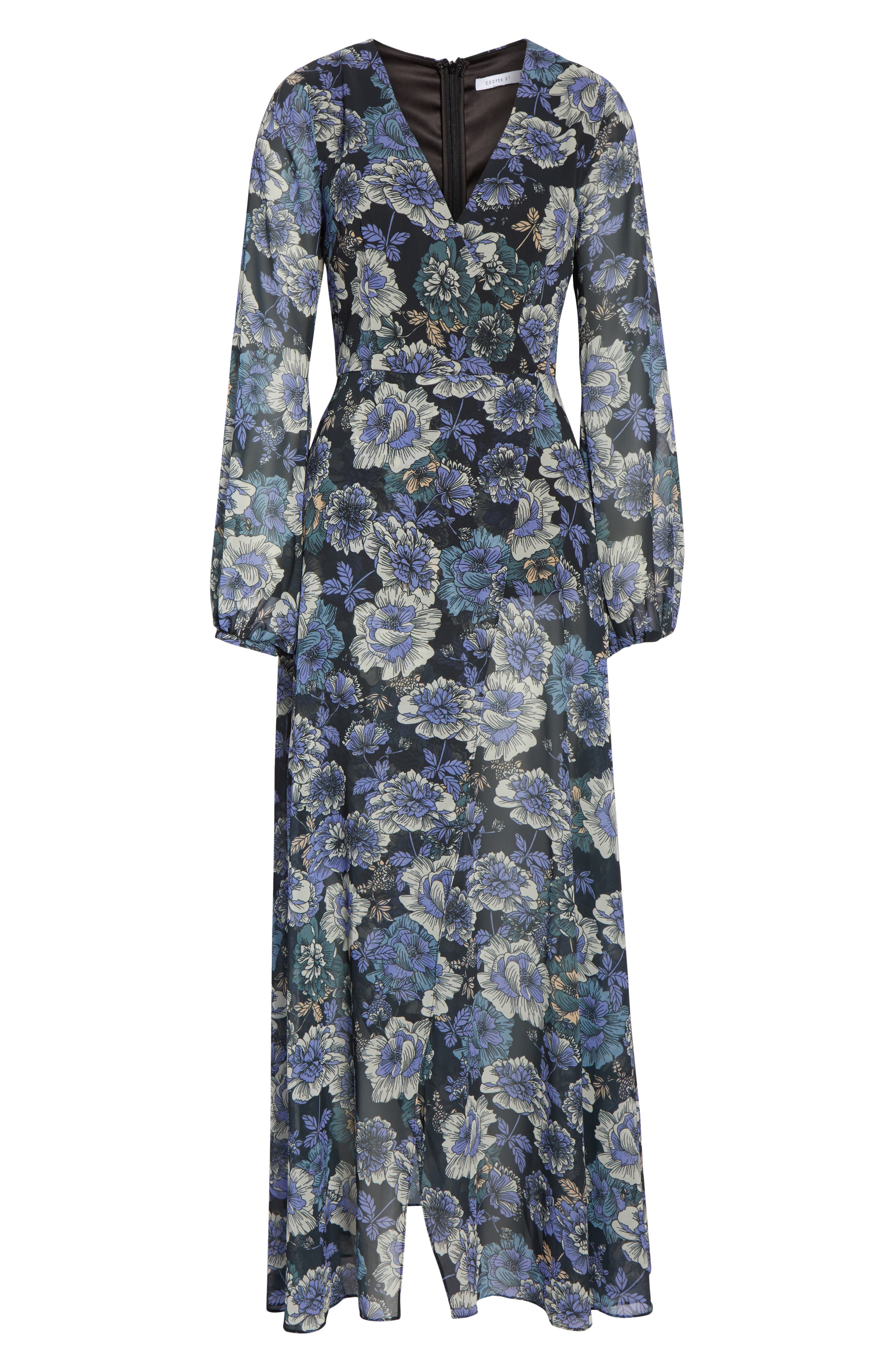 COOPER ST,                             Floral Fantasy Maxi Dress,                             Alternate thumbnail 7, color,                             PRINT
