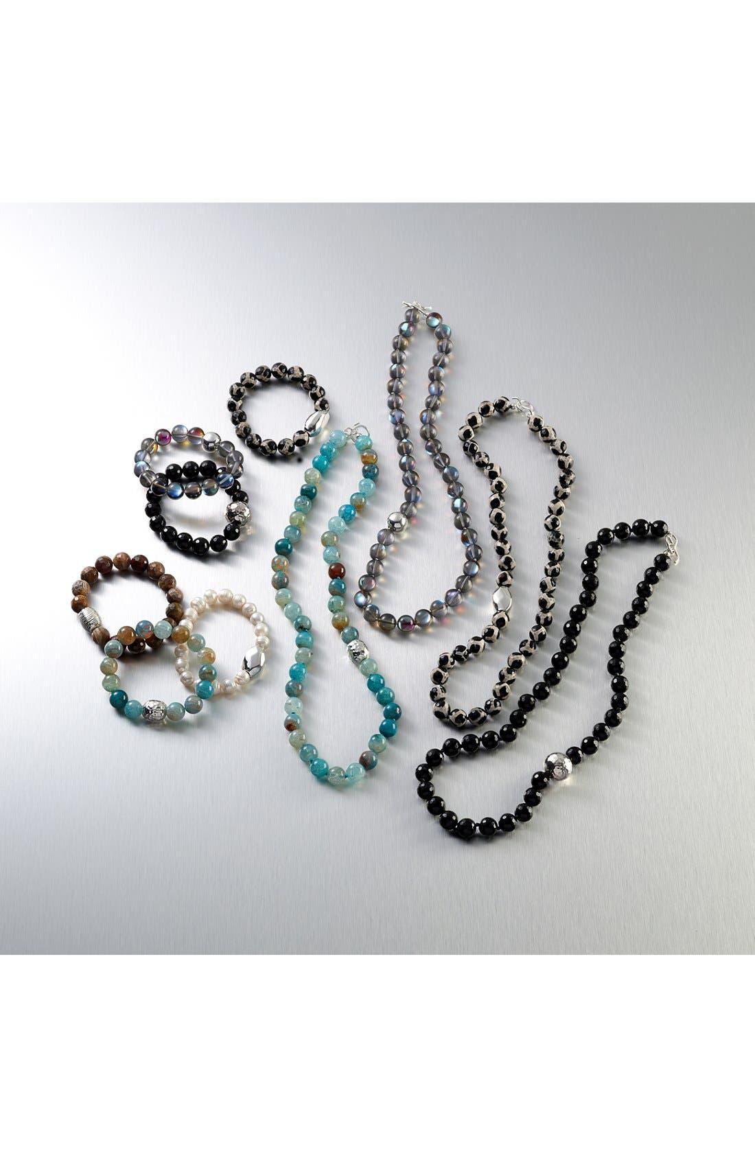 Stretch Bracelet,                             Alternate thumbnail 4, color,                             SILVER/ BLACK ONYX