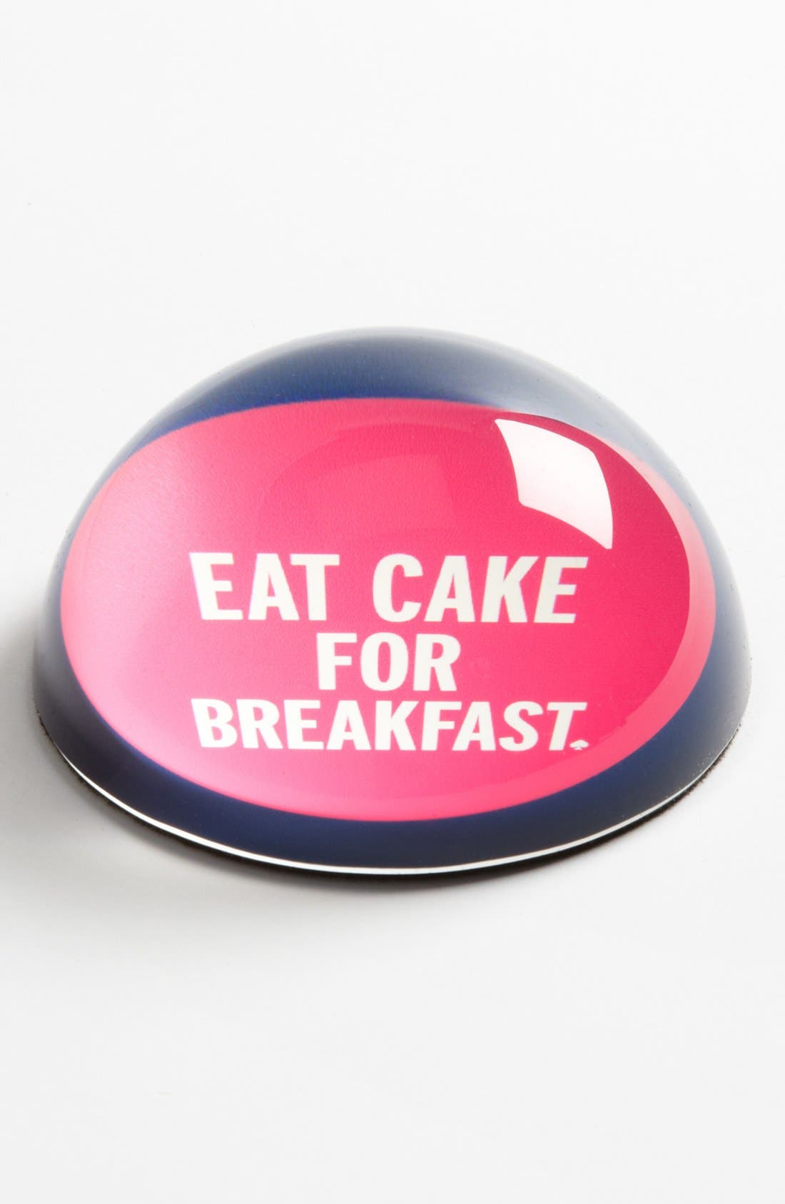 'things we love<sup>™</sup> - eat cake for breakfast' paperweight,                             Main thumbnail 1, color,                             000
