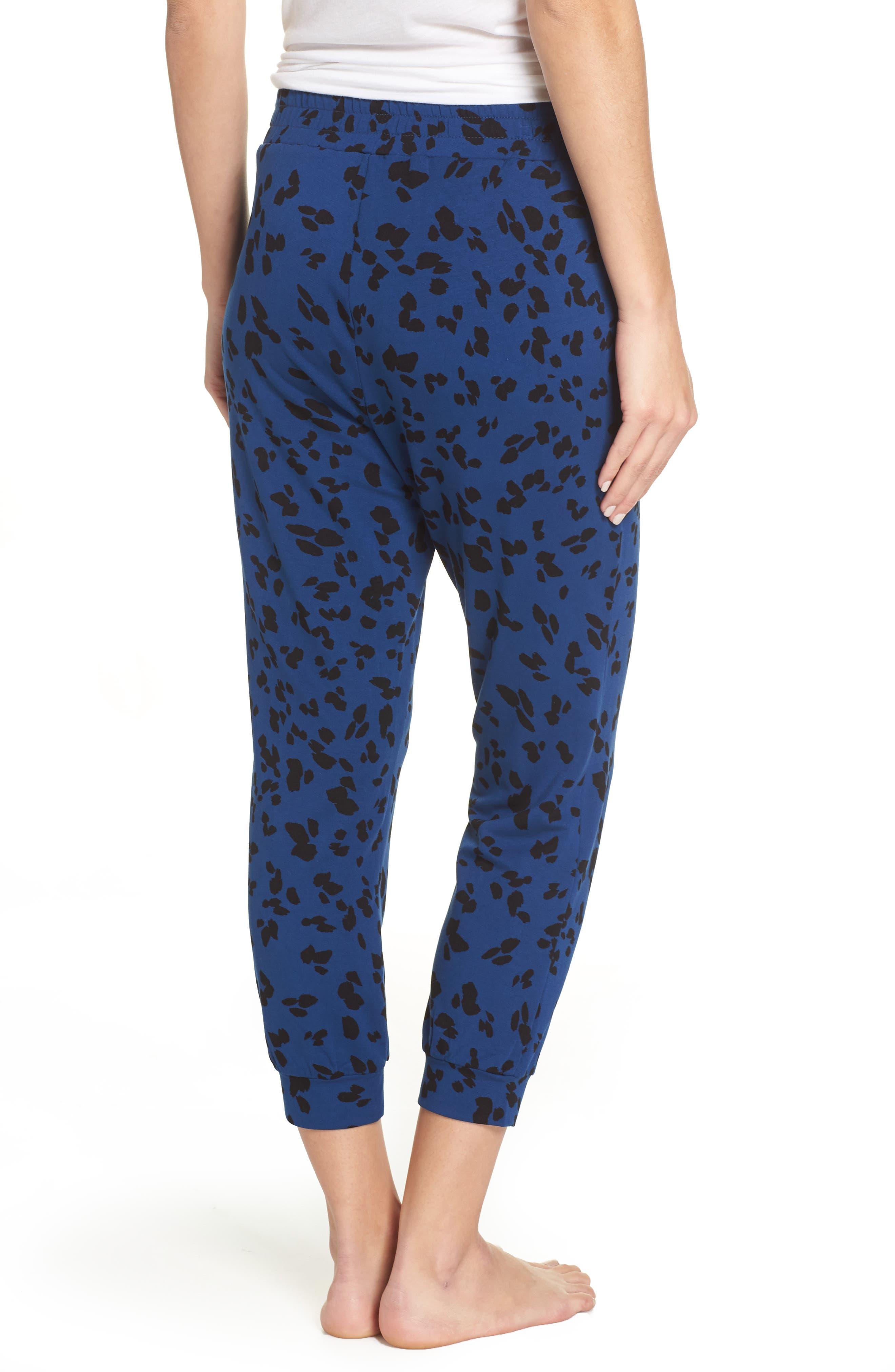 Totally Trending Leopard Print Jogger Pants,                             Alternate thumbnail 2, color,                             MARINE