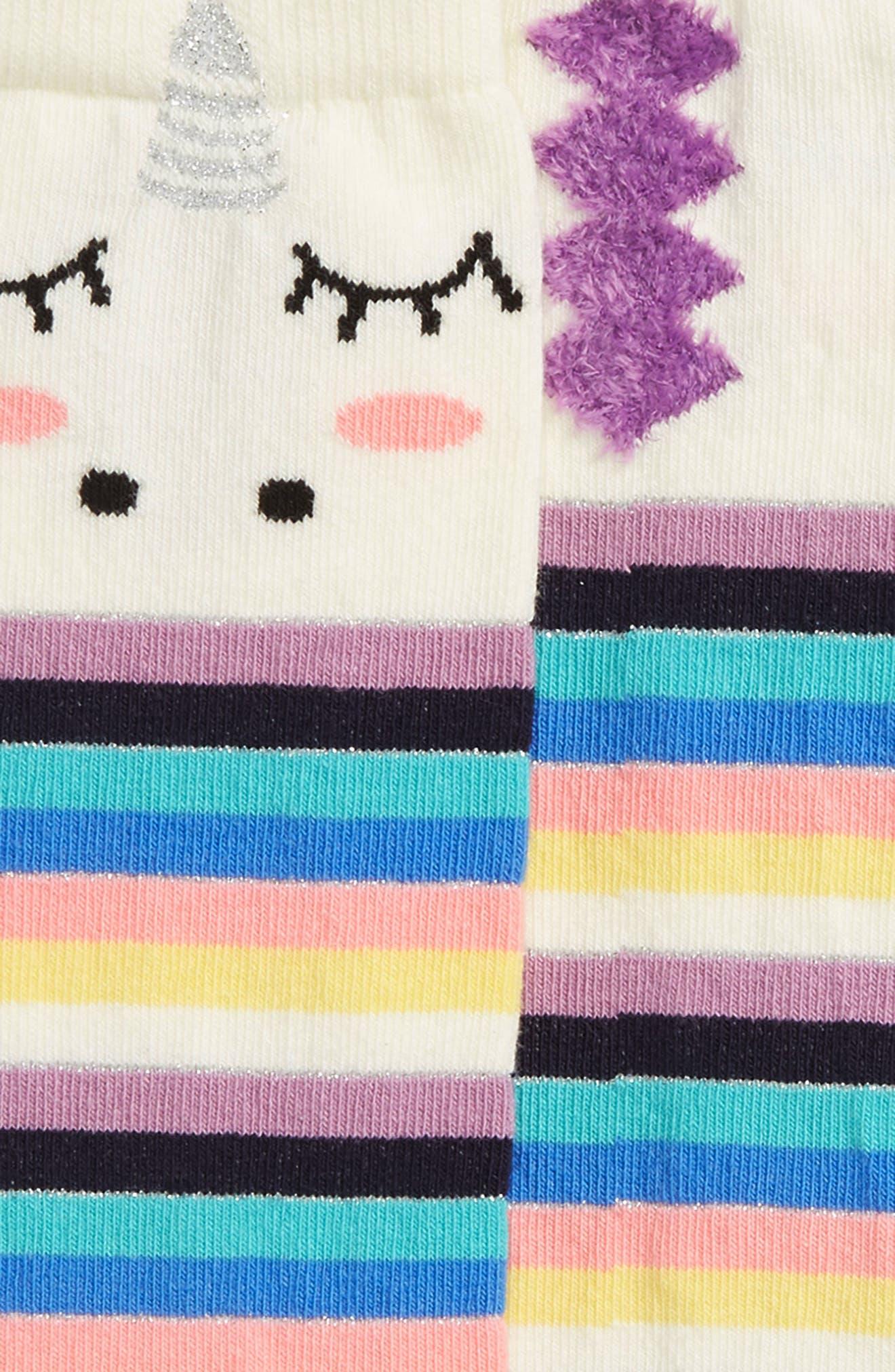2-Pack Rainbows & Unicorns Knee High Socks,                             Alternate thumbnail 2, color,                             101