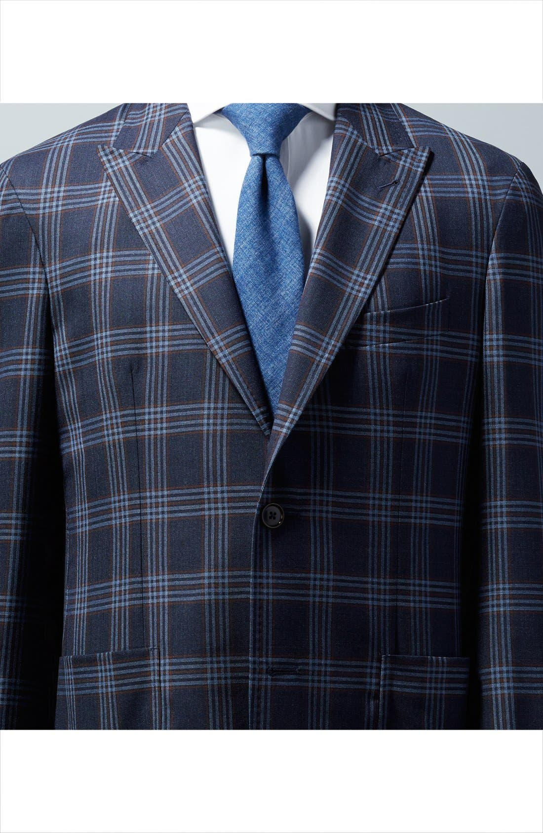 Trim Fit Solid Twill Dress Shirt,                             Alternate thumbnail 3, color,                             100