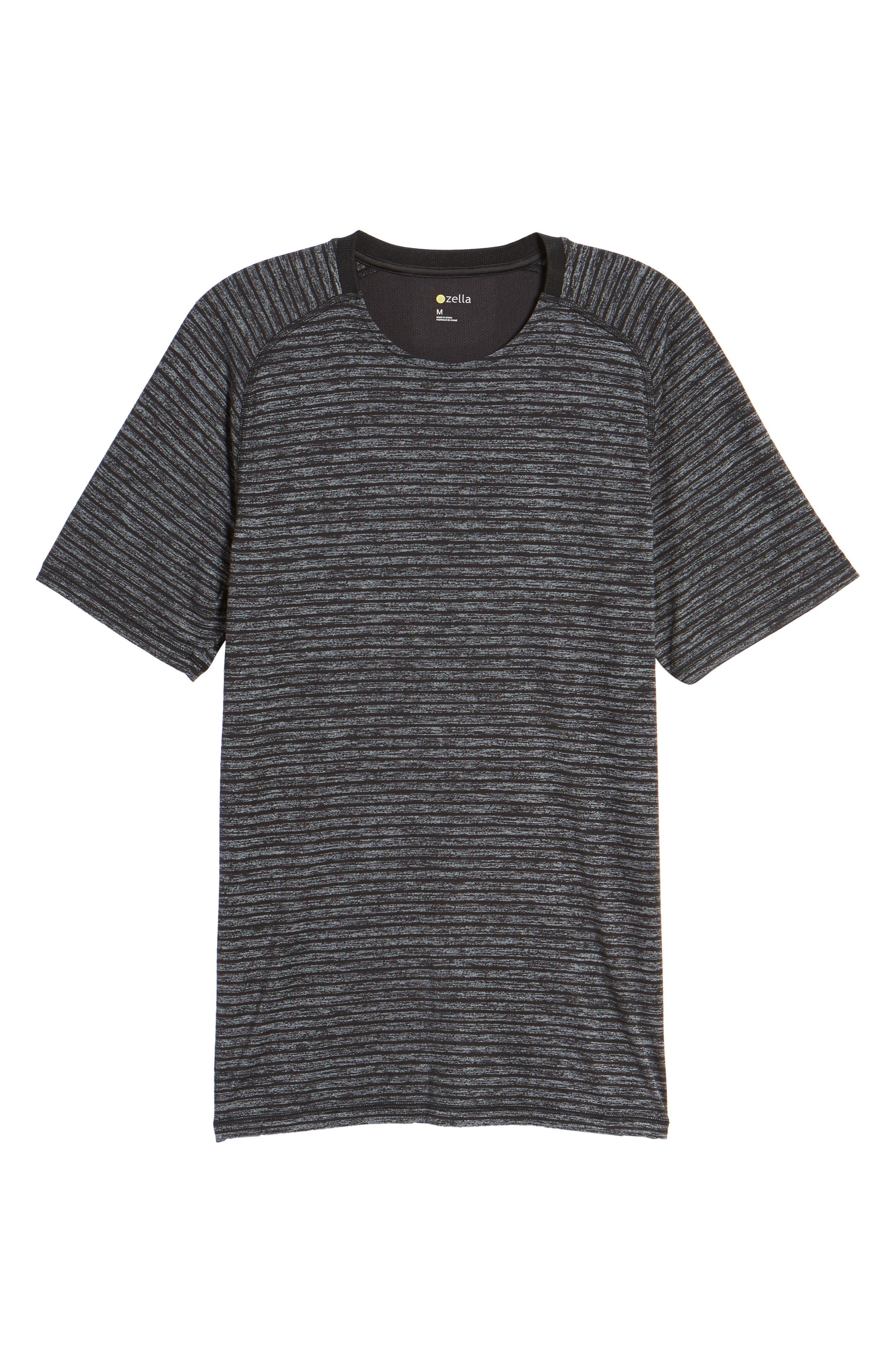 Stripe Crewneck T-Shirt,                             Alternate thumbnail 6, color,                             030
