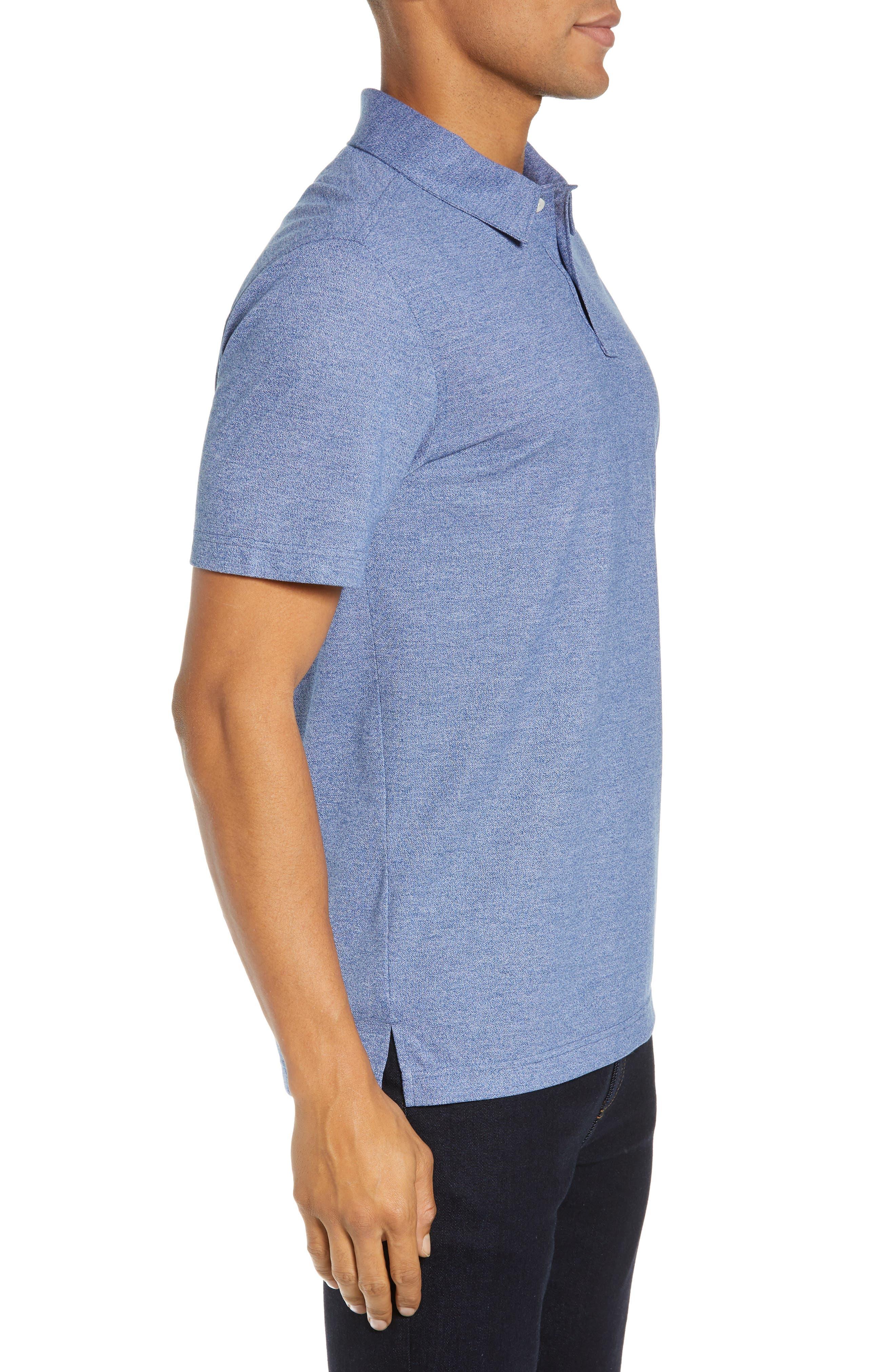 NORDSTROM MEN'S SHOP,                             Regular Fit Polo,                             Alternate thumbnail 3, color,                             BLUE CASPIA MELANGE
