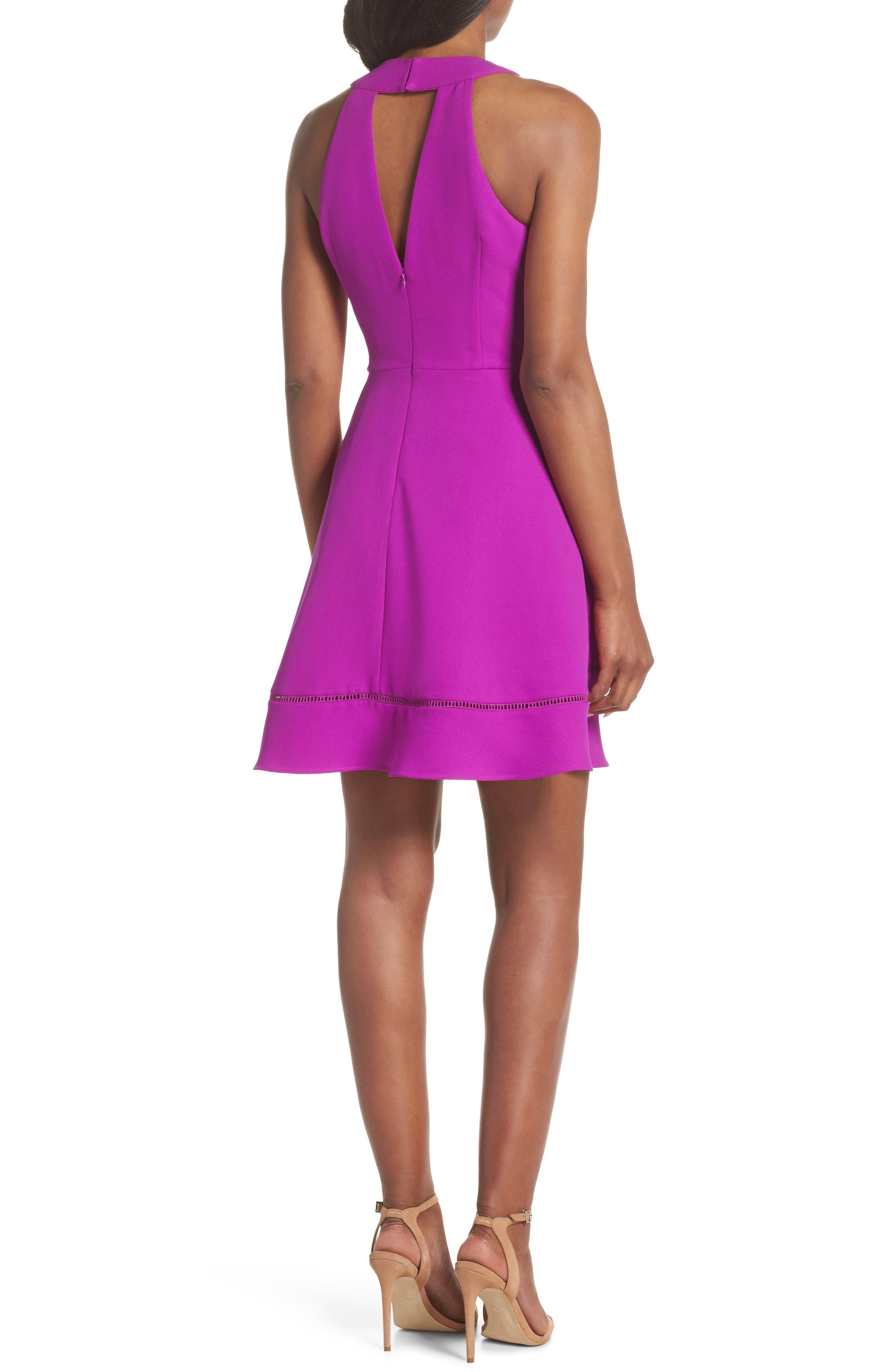 Gemma Fit & Flare Dress,                             Alternate thumbnail 4, color,