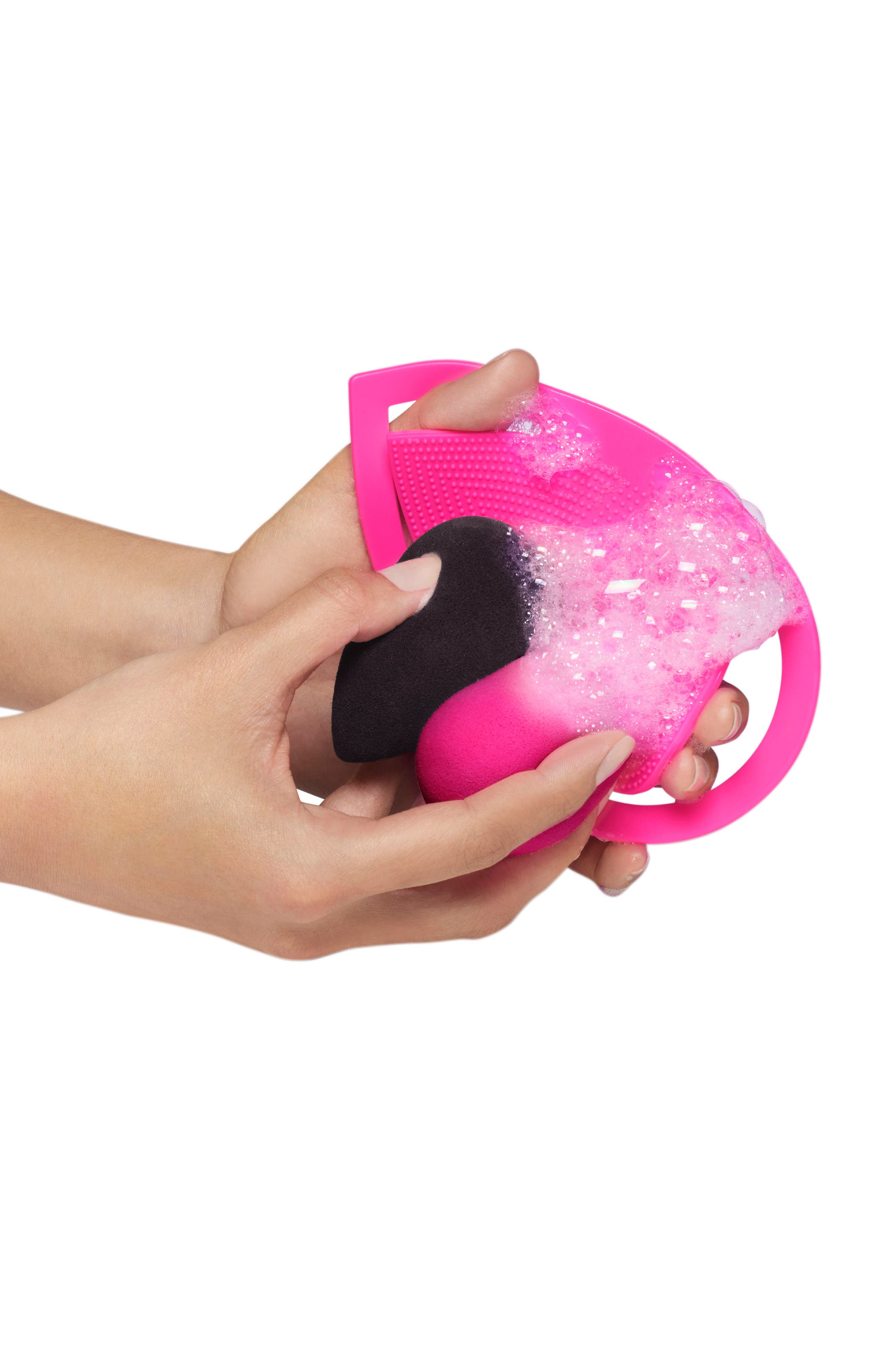 keep.it.clean Cleansing Pad & Cleanser Kit,                             Alternate thumbnail 3, color,                             PINK
