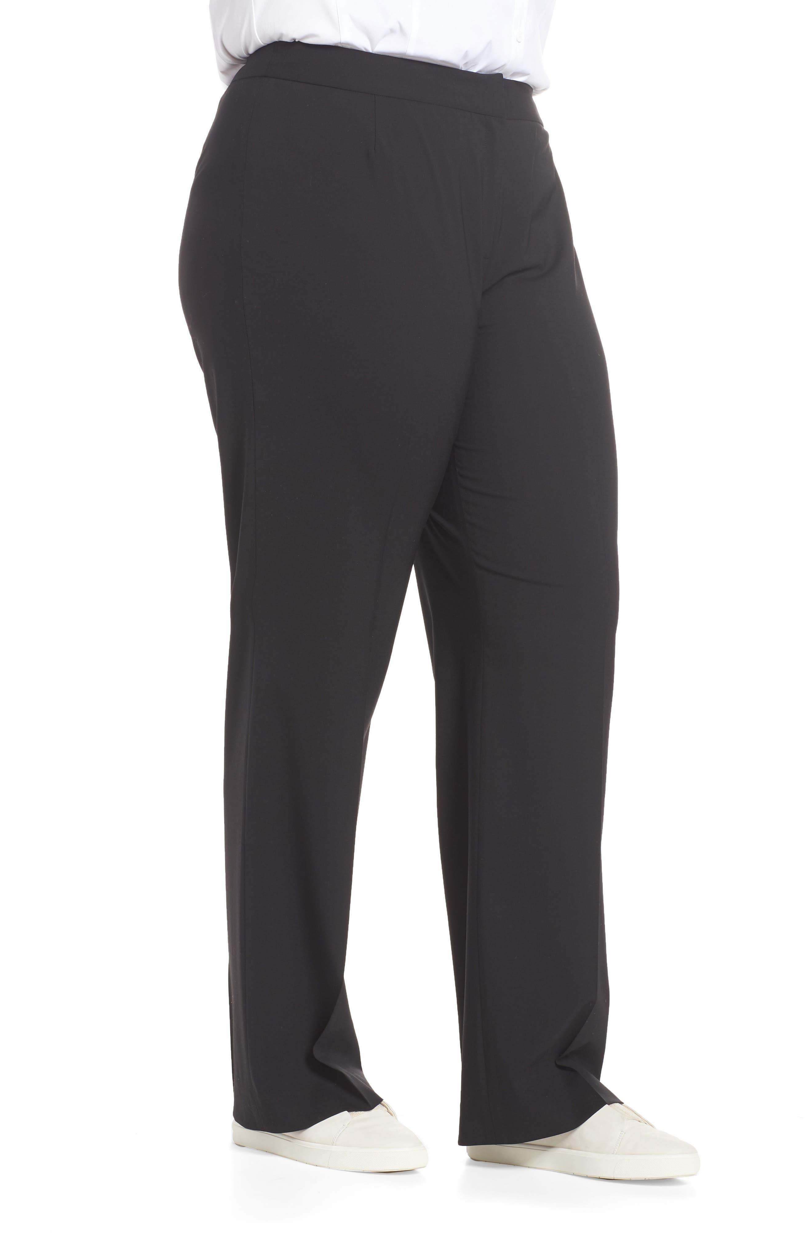 Menswear Trousers,                             Alternate thumbnail 4, color,                             BLACK