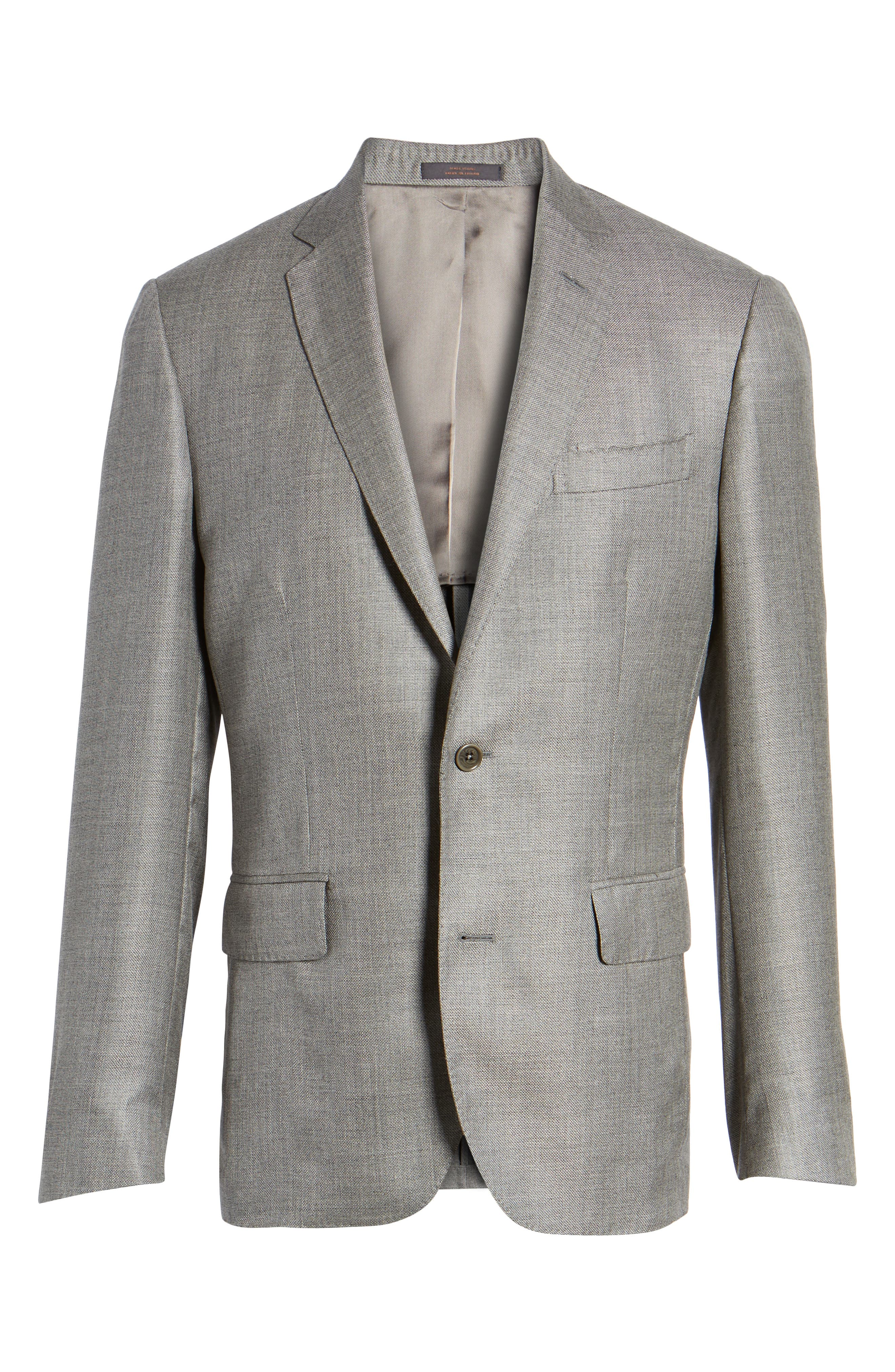 Trim Fit Cashmere & Silk Blazer,                             Alternate thumbnail 5, color,                             030