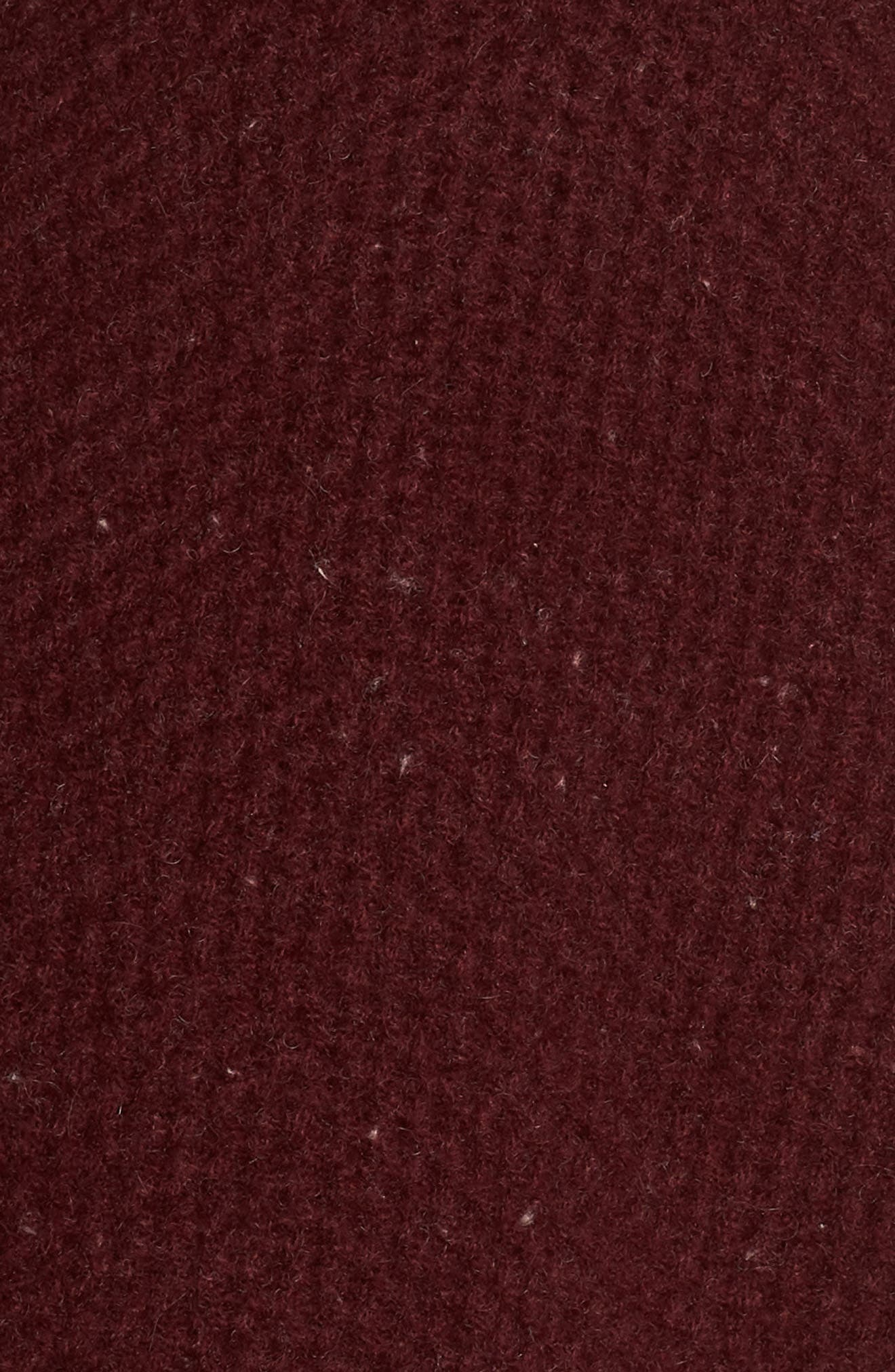 Elyse Cashmere Zip Hoodie,                             Alternate thumbnail 5, color,                             PORT HEATHER