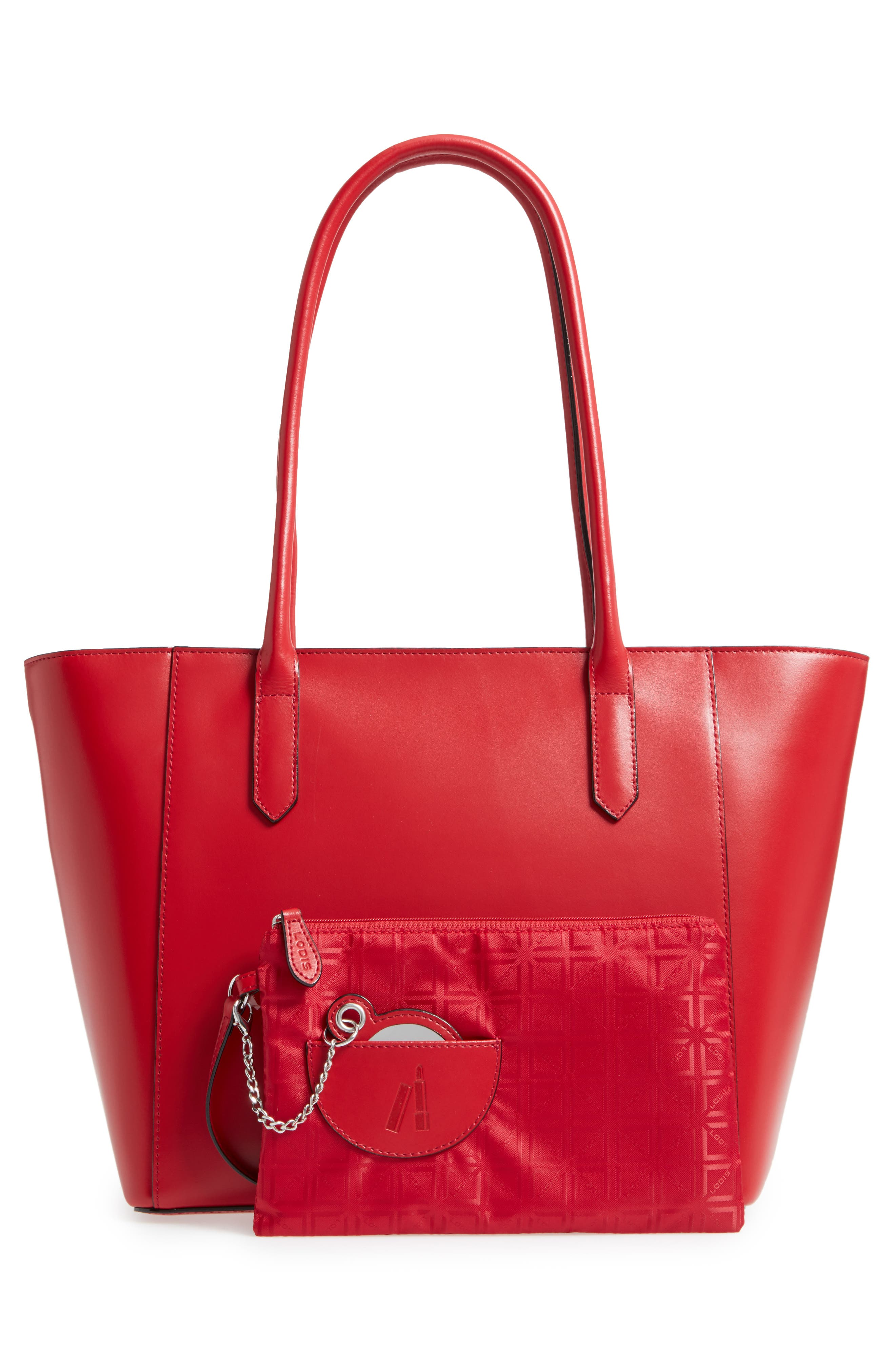 Audrey Under Lock & Key - Medium Margaret RFID Leather Tote with Zip Pouch,                             Alternate thumbnail 12, color,